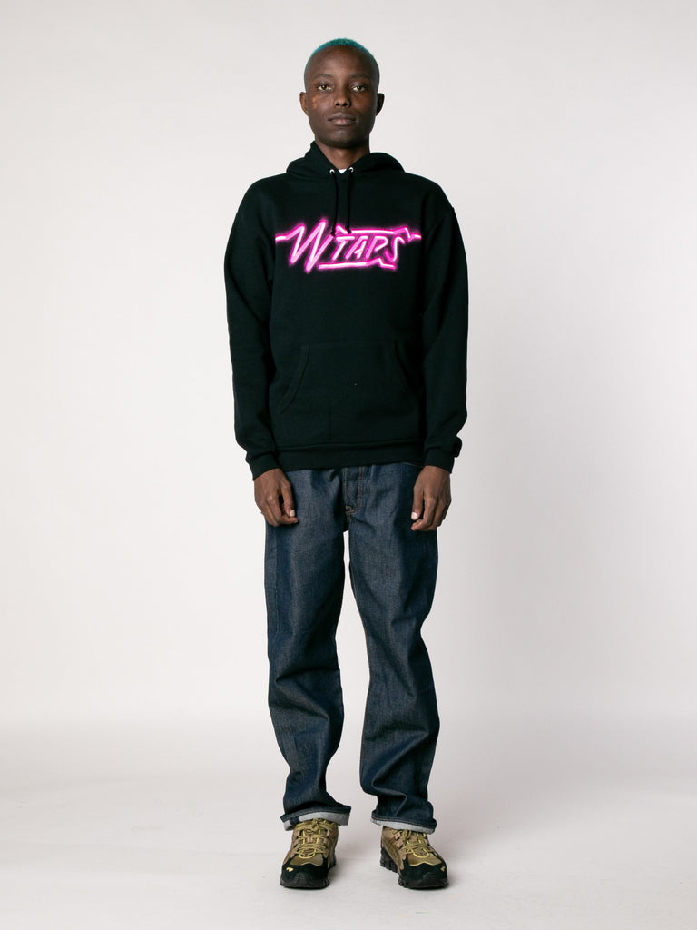 Black SIZER Hooded Sweatshirt 313866047275085