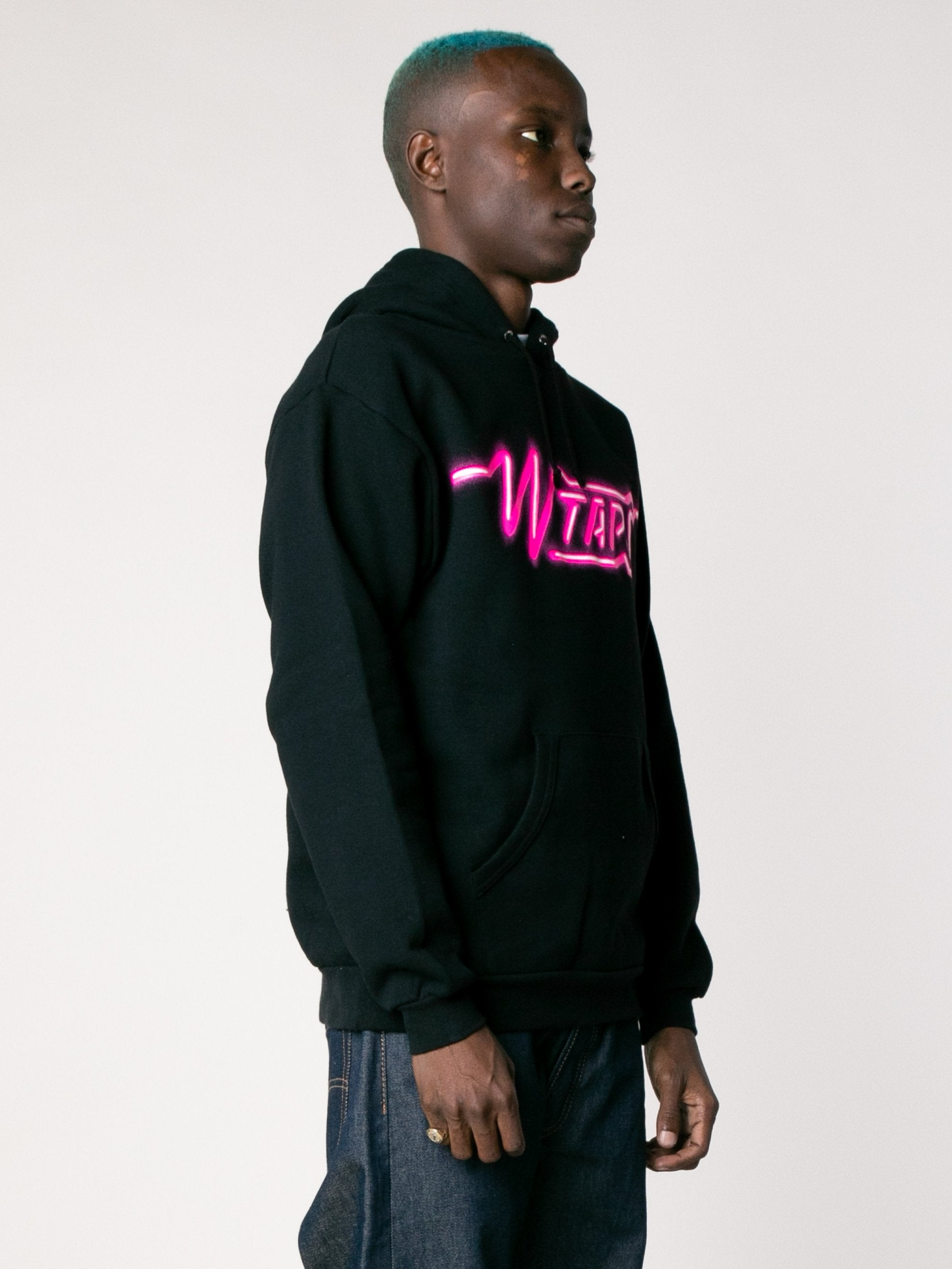 Black SIZER Hooded Sweatshirt 4