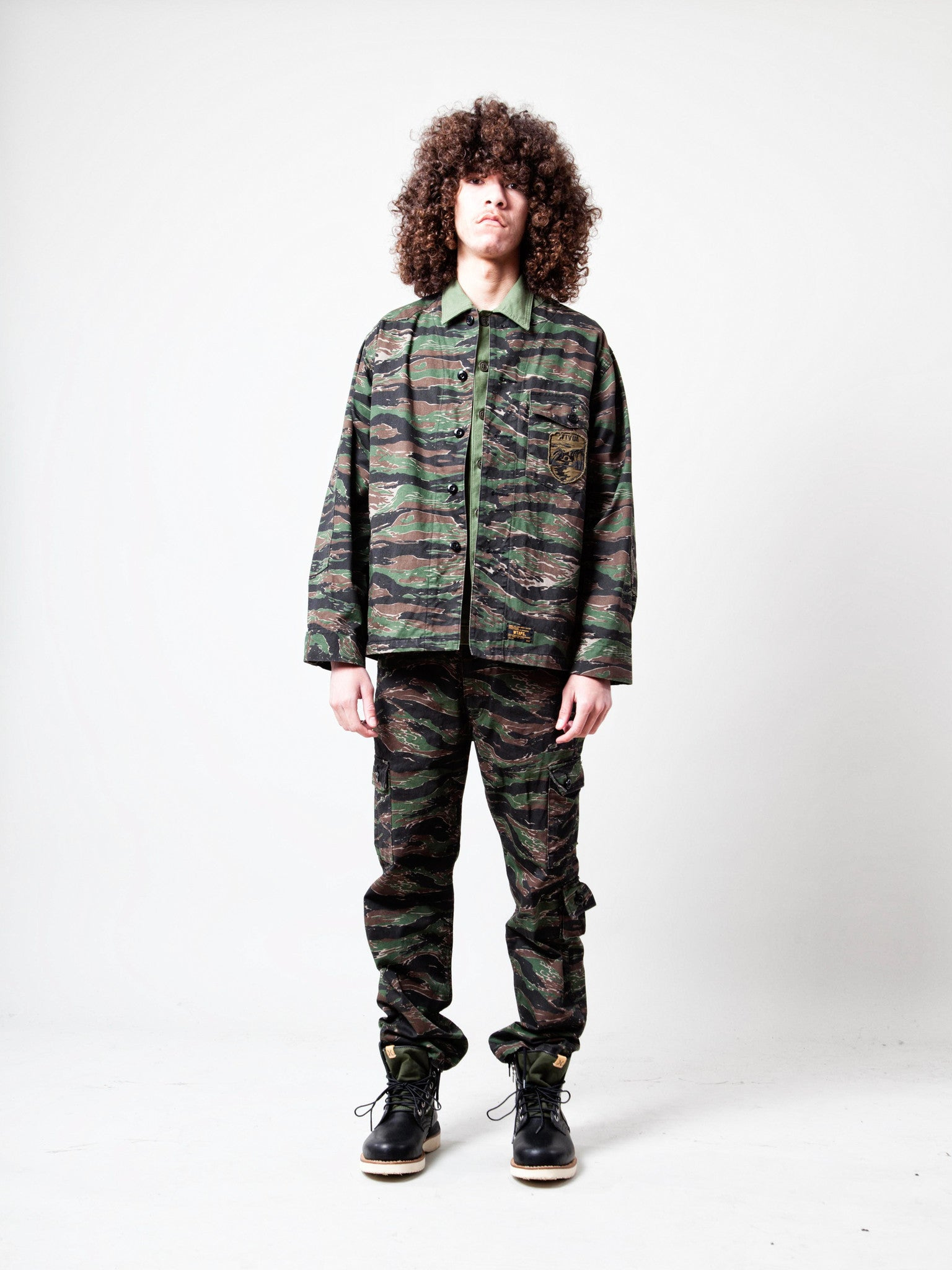 Tiger Stripe Scout LS 01 Shirt (Cotton Twill/Tiger Stripe) 2