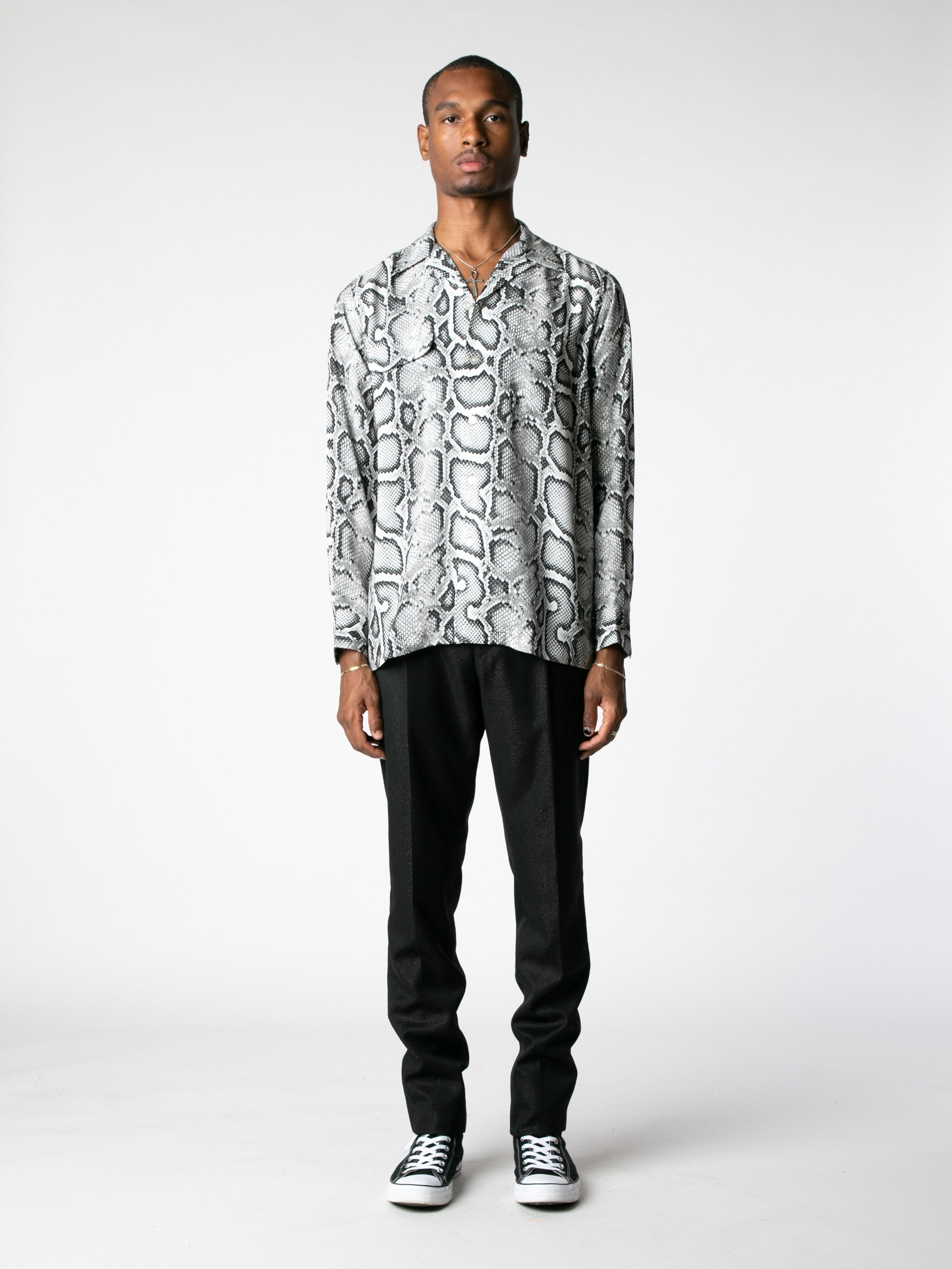 White Hawaiian Shirt L/S (Type-1) 3