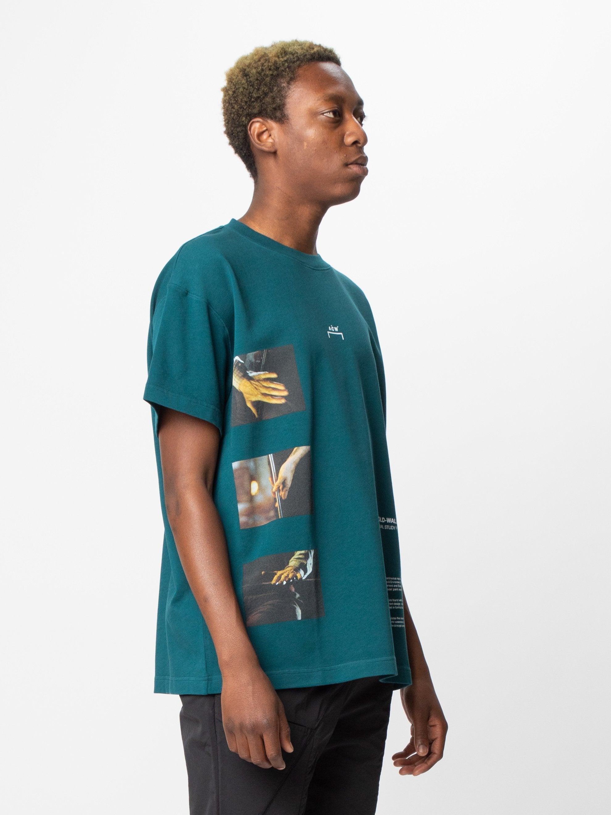 Deep Teal Glass Blower T-Shirt 4