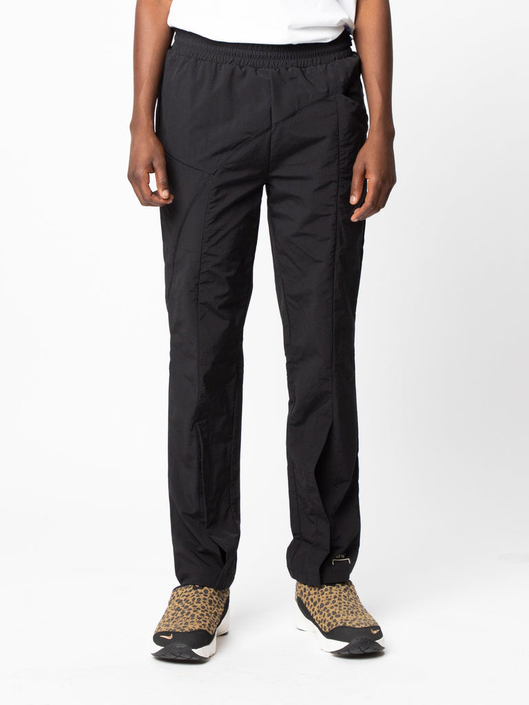 Black Woven Pant Curved Stitch Track Pants 314143430950989