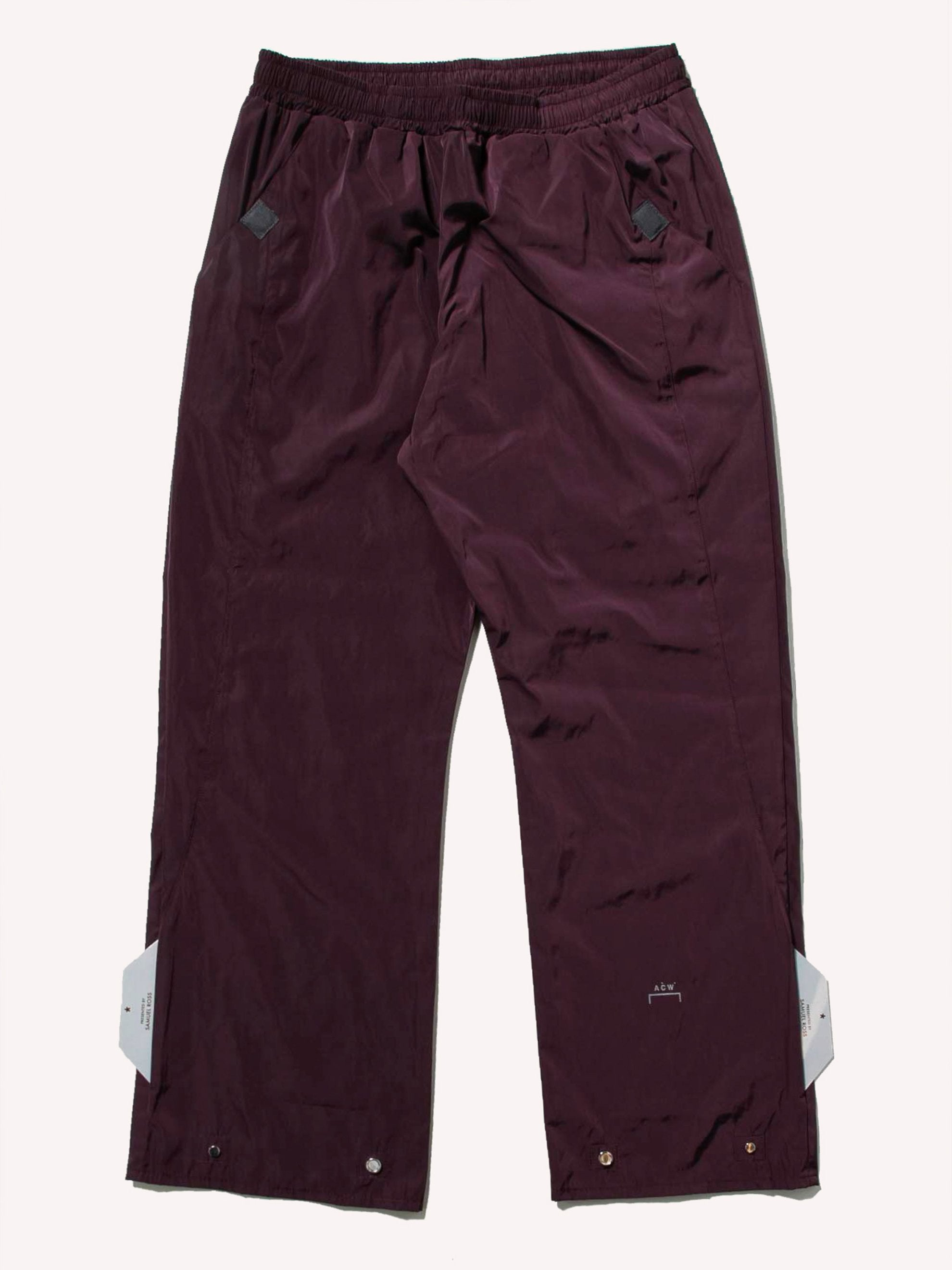 Maroon Woven Magnetic Trousers 1