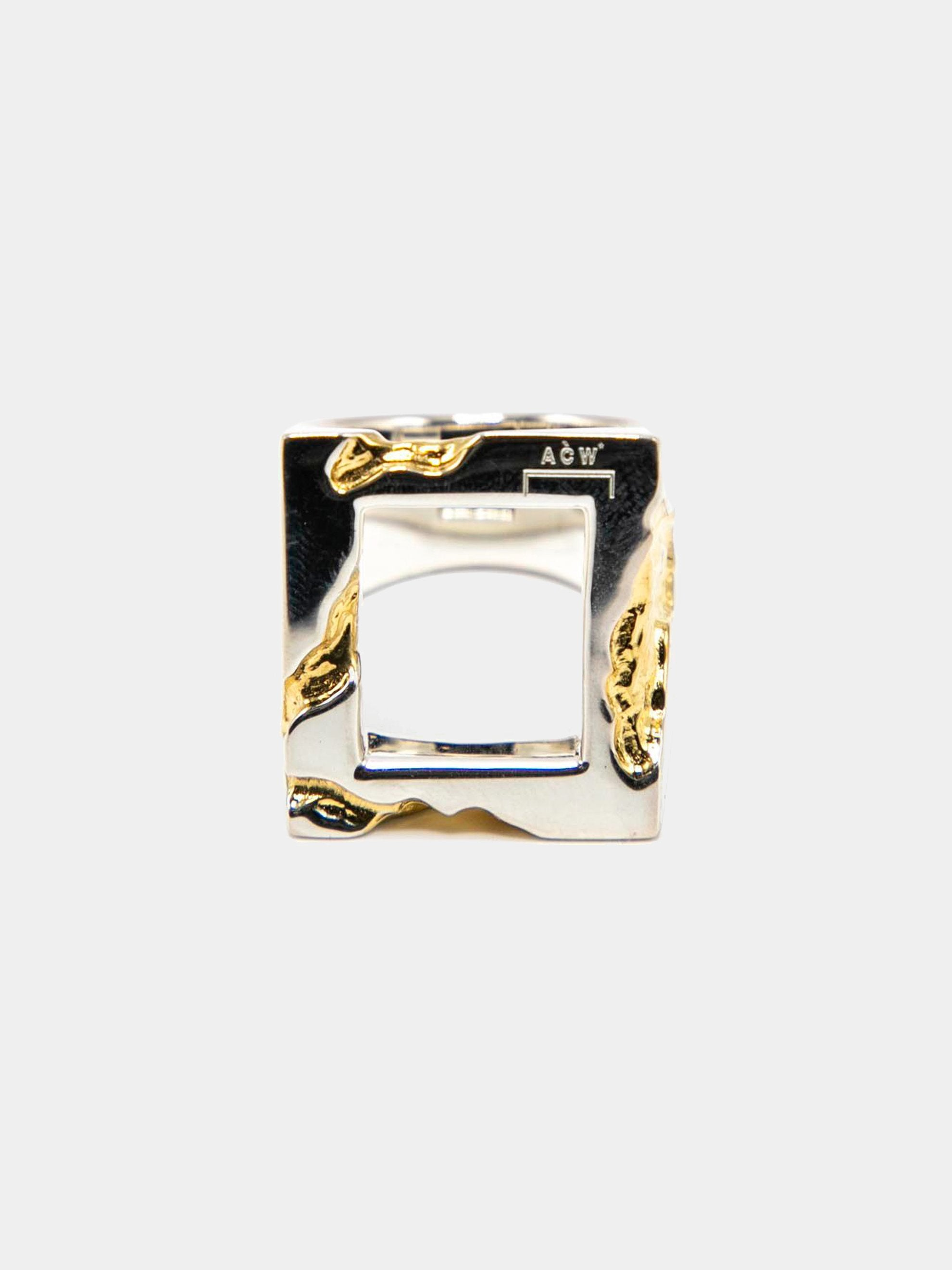 Gold Oversize Gold Leaf Ring 1