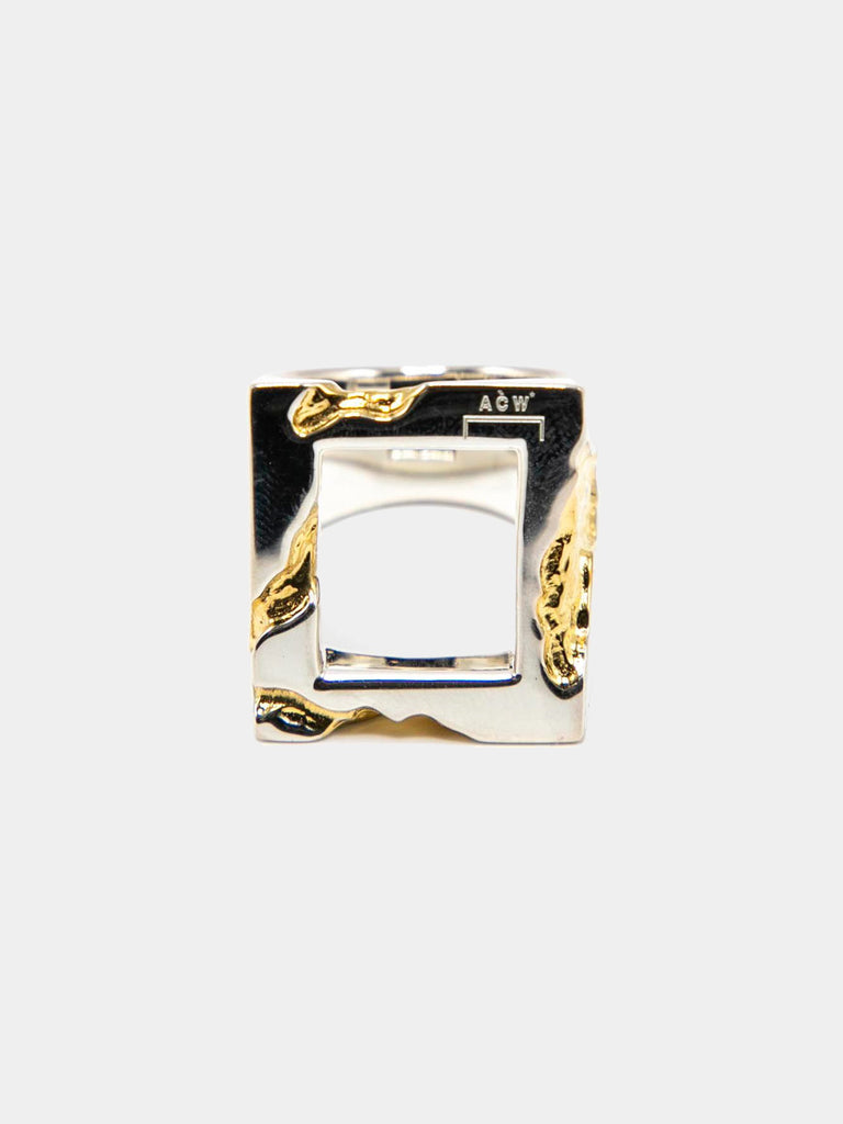 Oversize Gold Leaf Ring