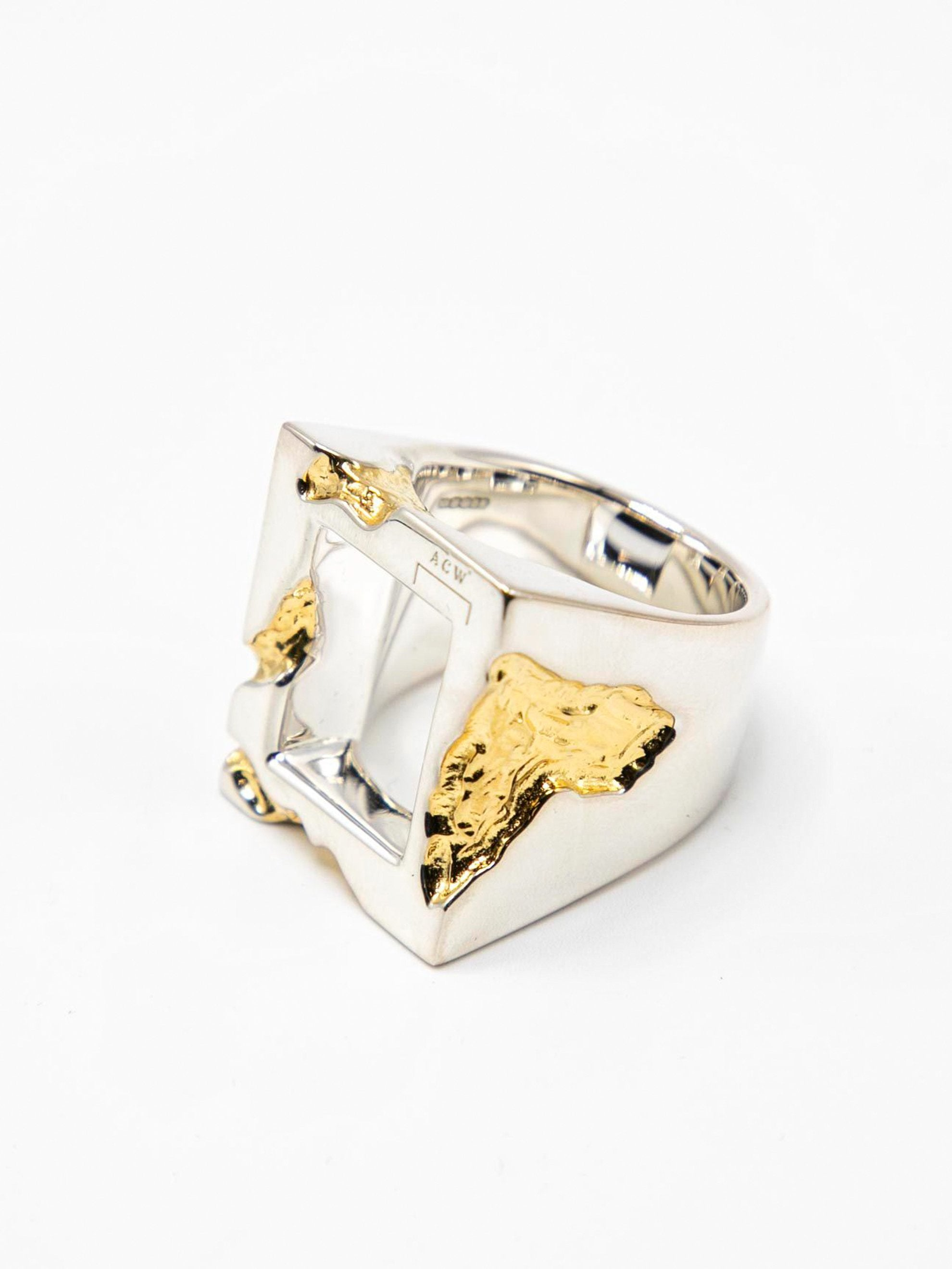 Gold Oversize Gold Leaf Ring 2