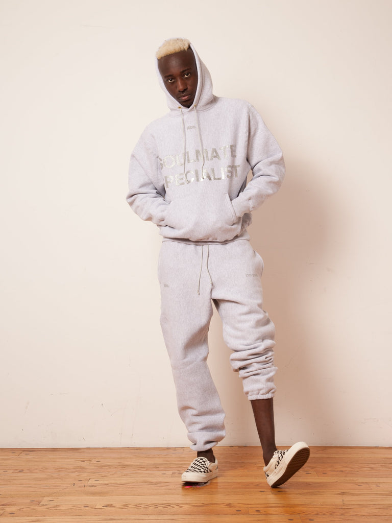 Heather Grey Soulmate Hooded Sweatshirt 523130099849