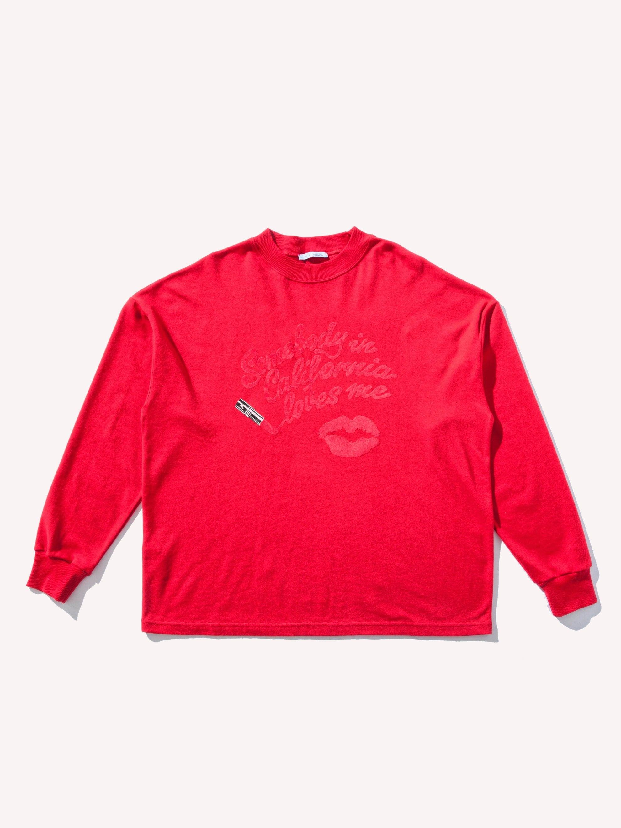 Red Somebody in California Sweatshirt 1