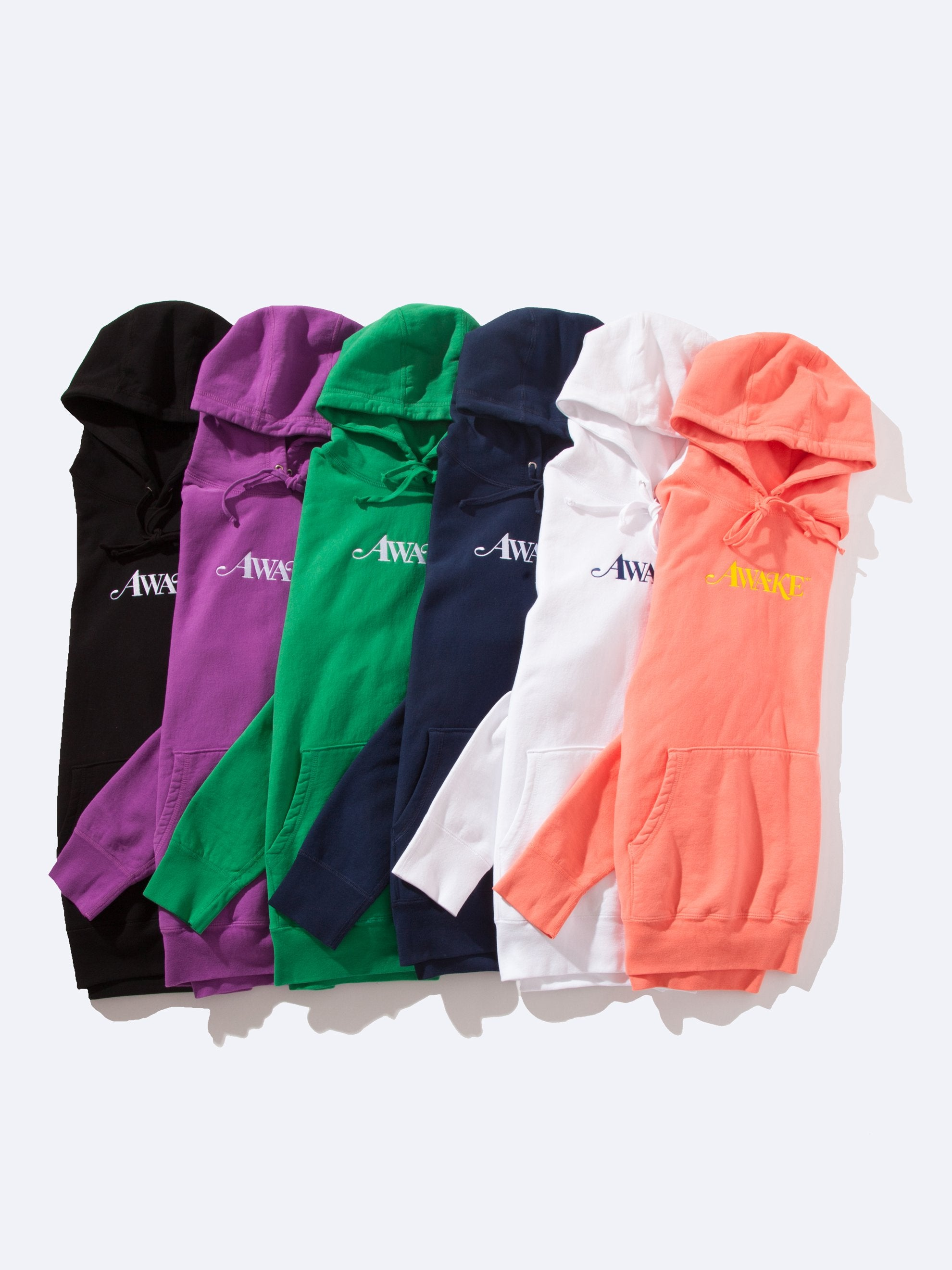 White Logo Hooded Sweatshirts 1