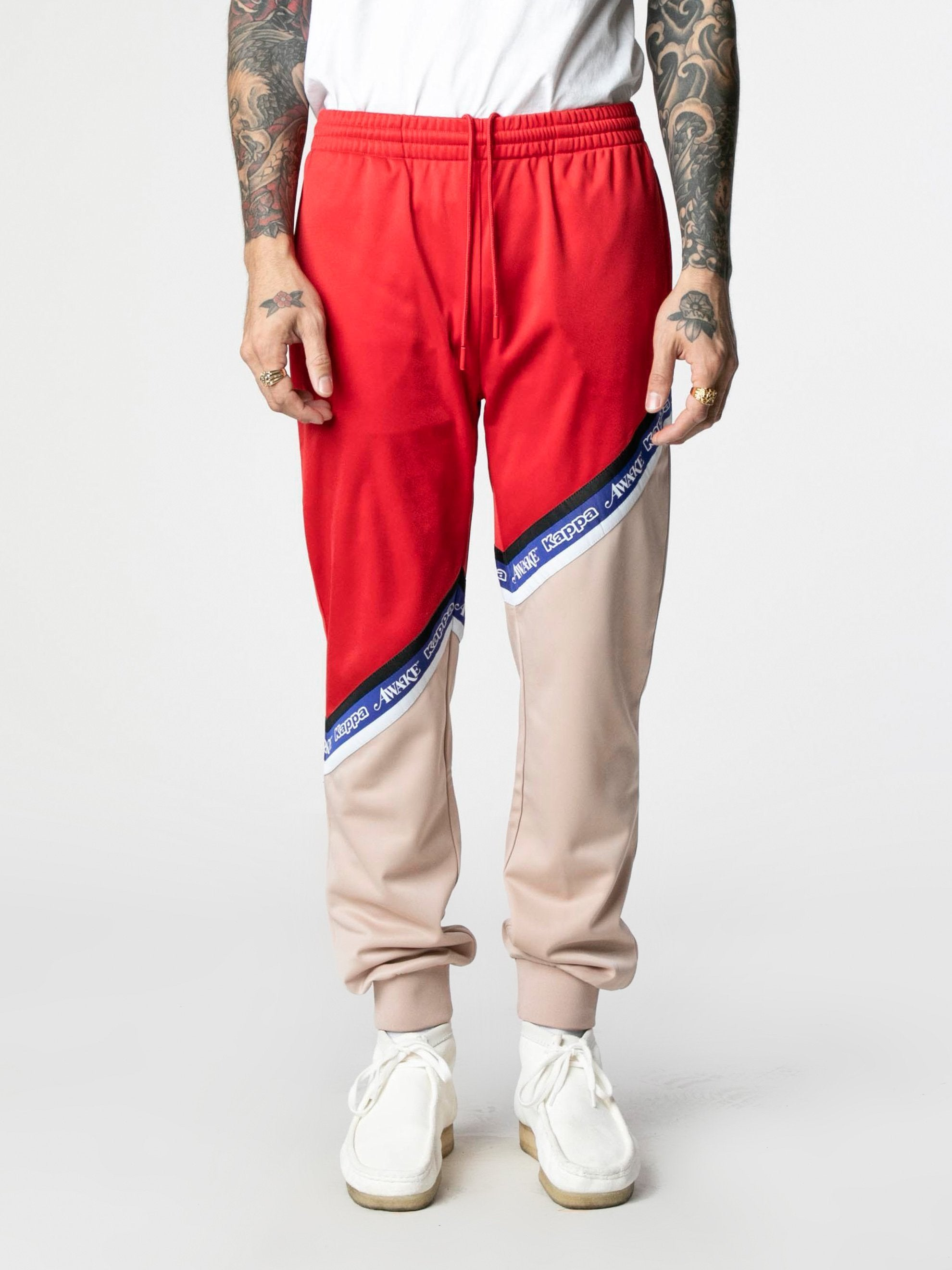 Pink-Red Awake NY x Kappa Eldred Track Pants 2