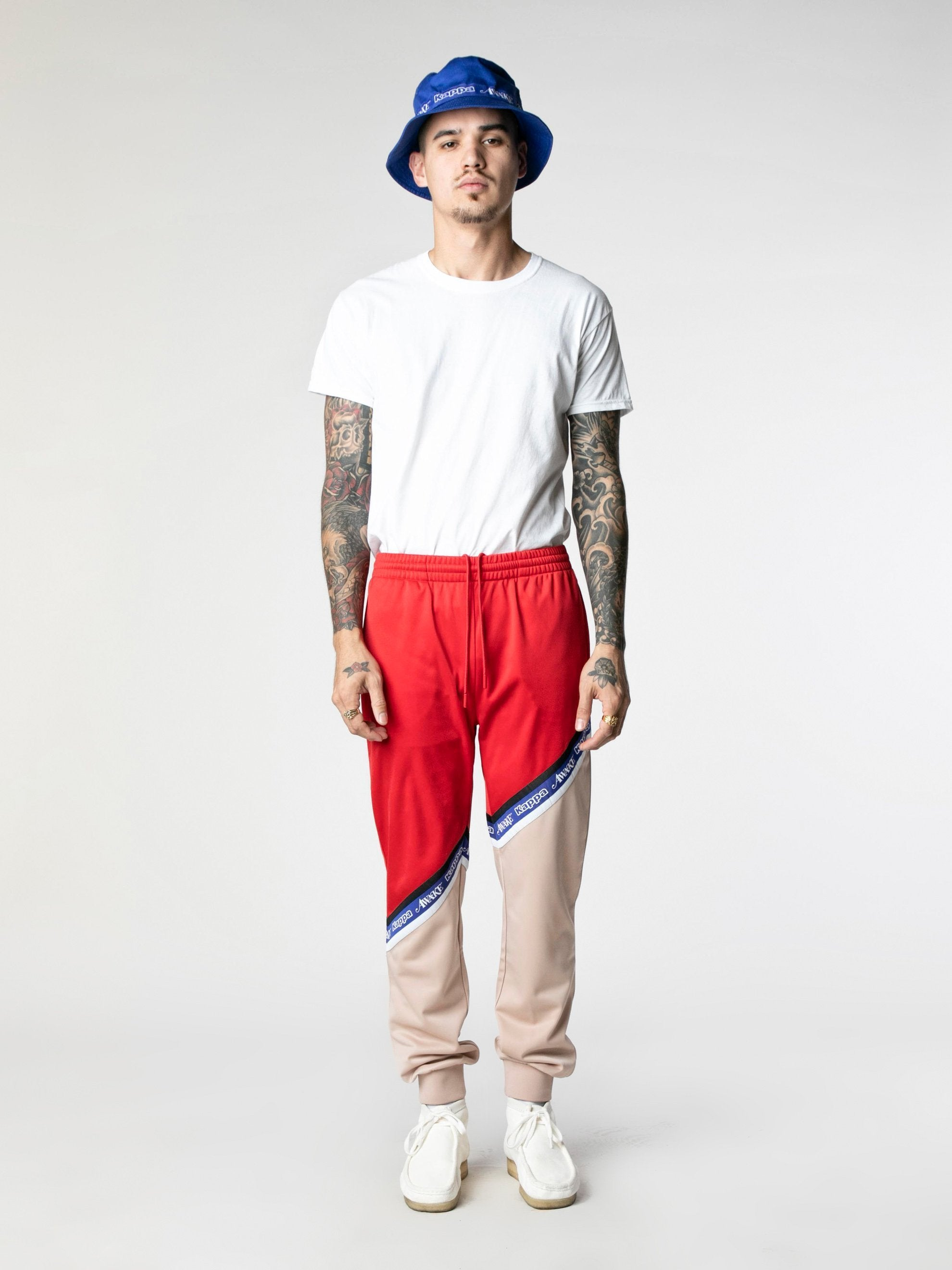 Pink-Red Awake NY x Kappa Eldred Track Pants 3