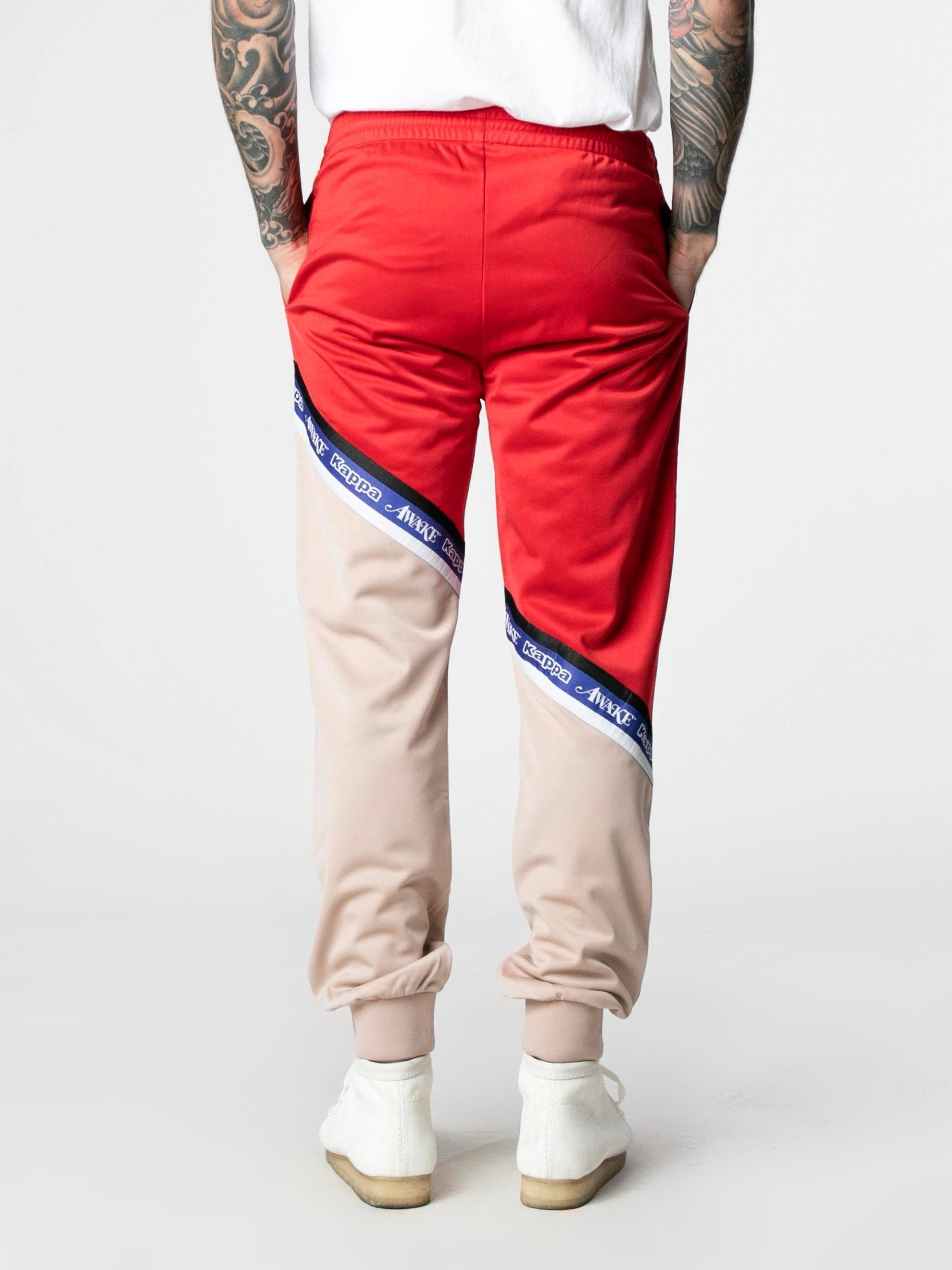 Pink-Red Awake NY x Kappa Eldred Track Pants 5