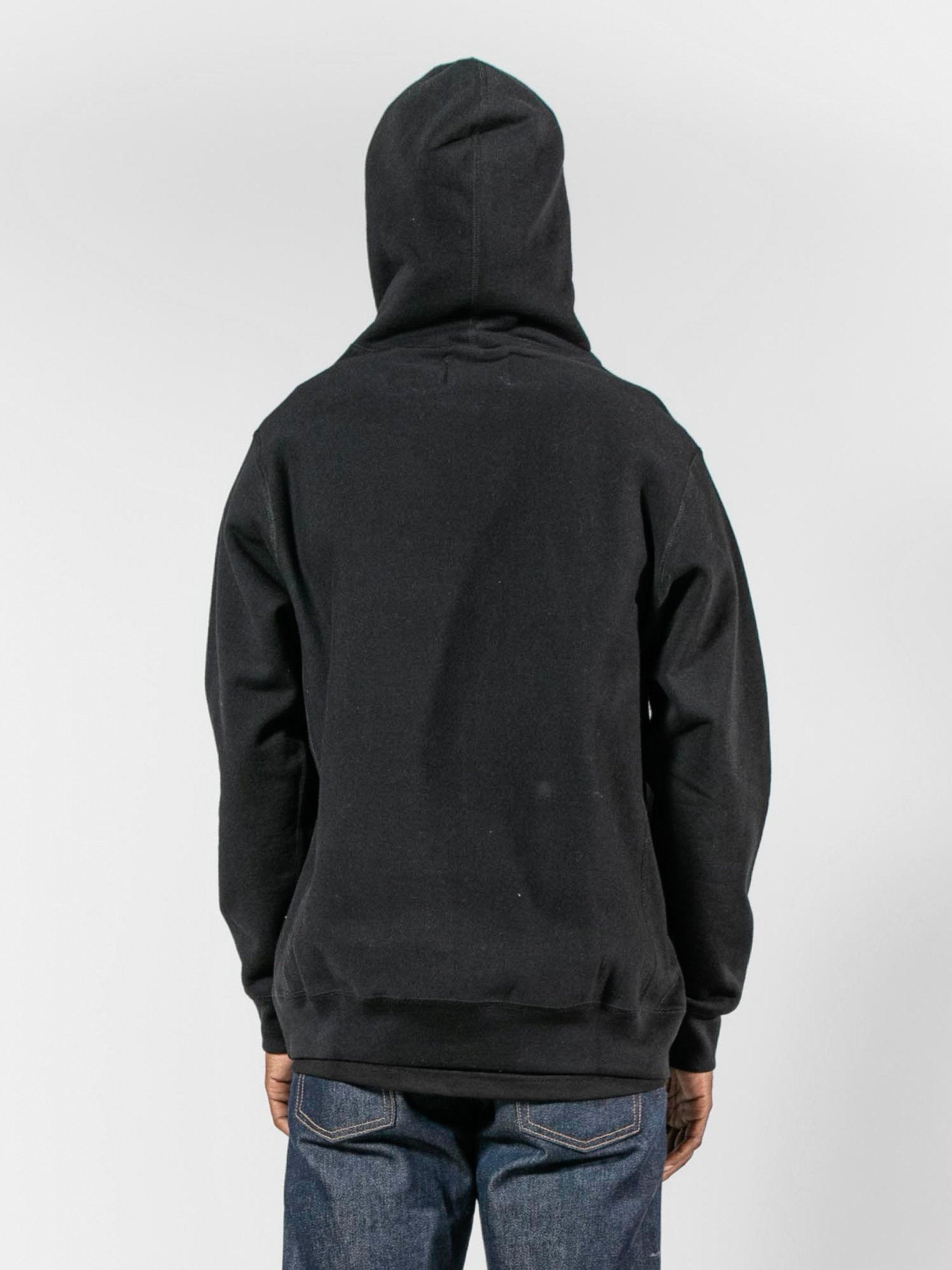 Black Split Patch Logo Hoodie 6