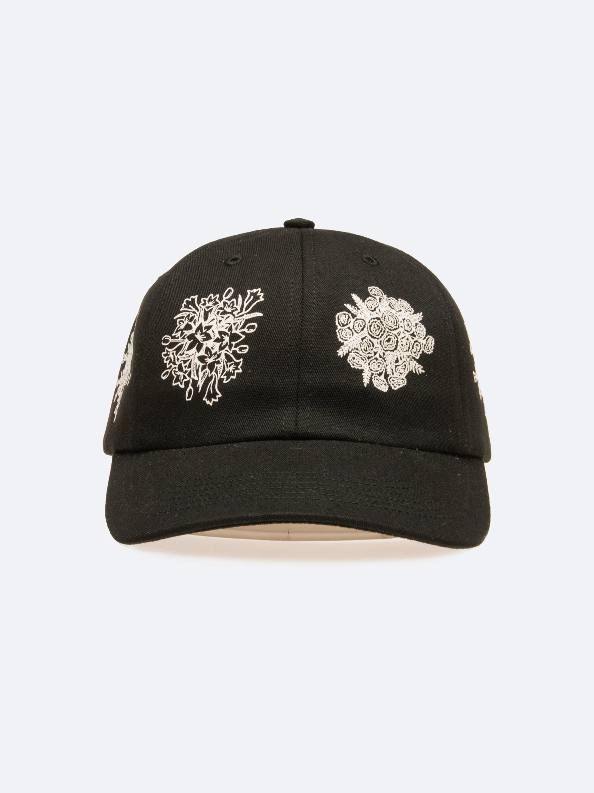 Black Say It With Flowers 6-Panel Hat 1