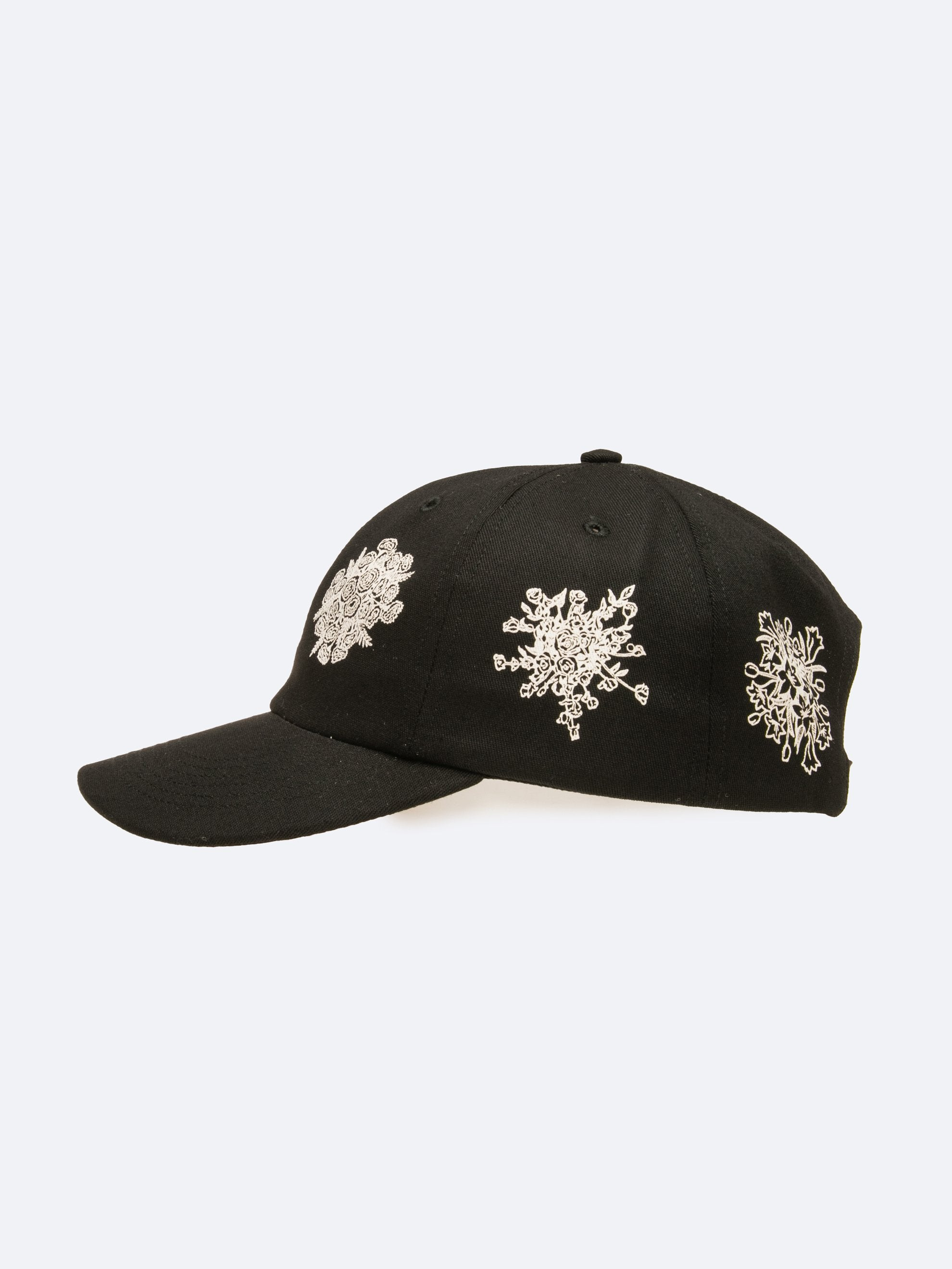 Black Say It With Flowers 6-Panel Hat 2