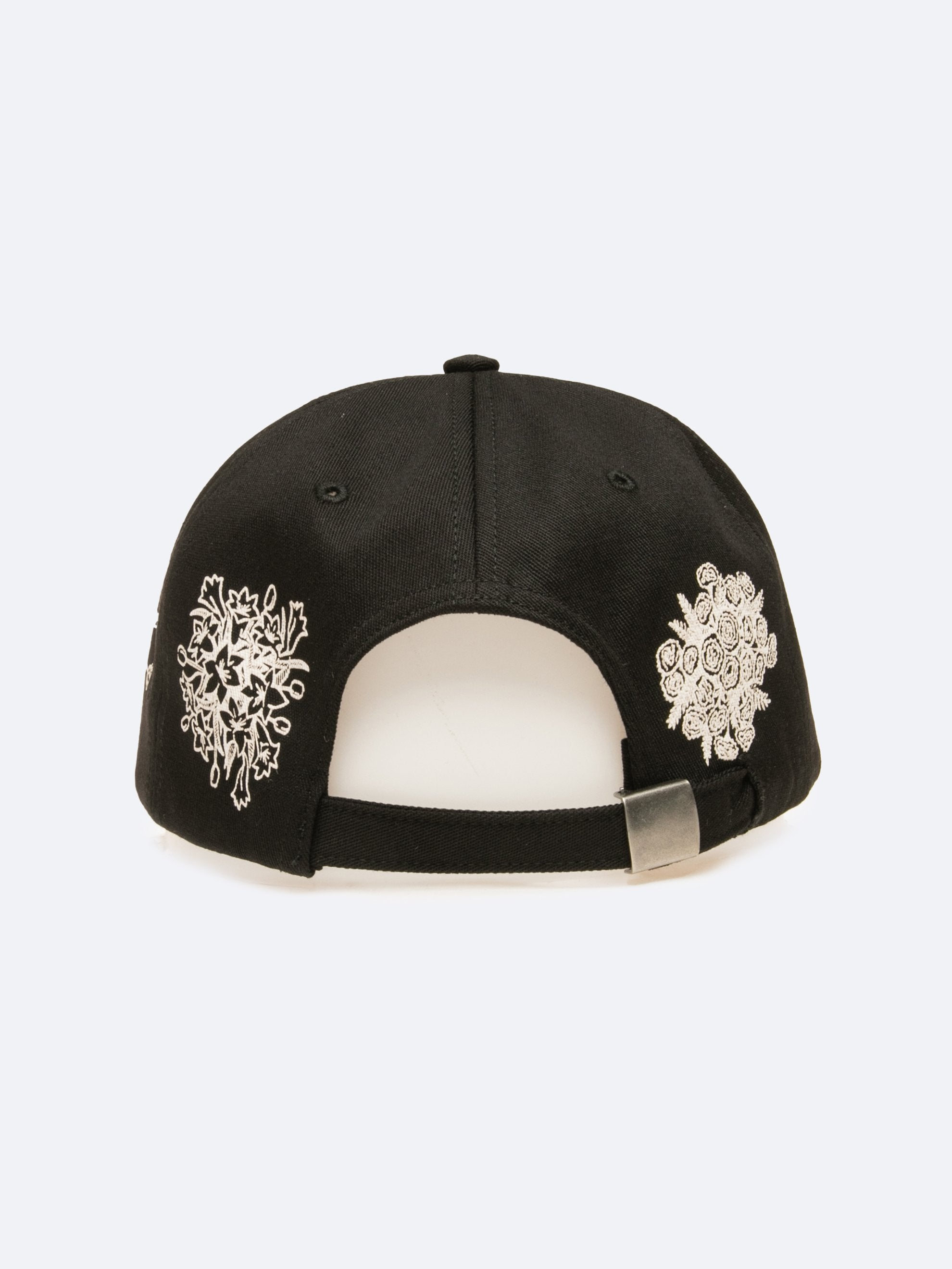 Black Say It With Flowers 6-Panel Hat 3