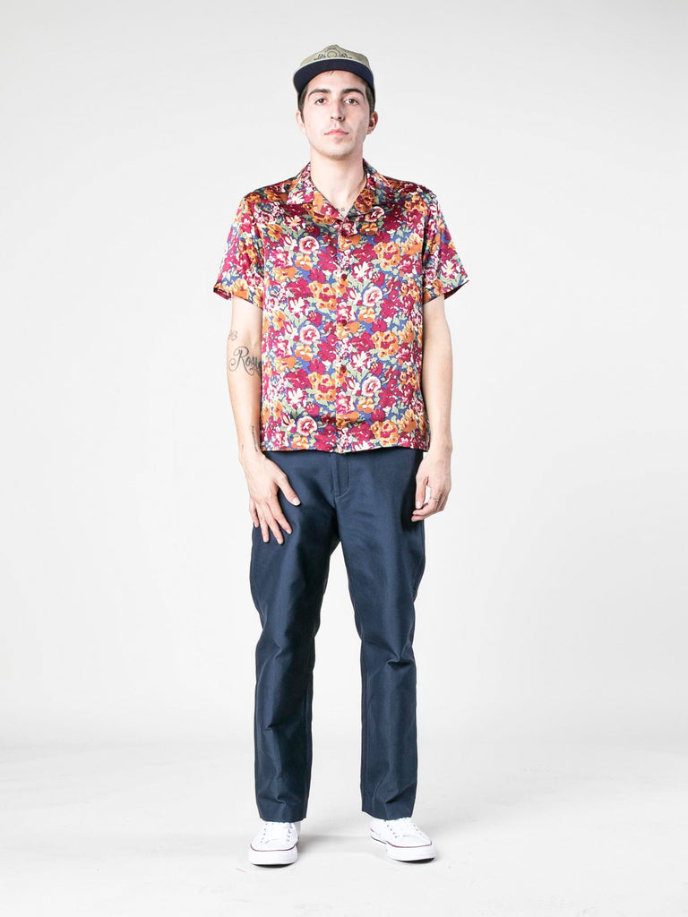 Autumn Vintage Silk Short Sleeve Shirt 413570149908557
