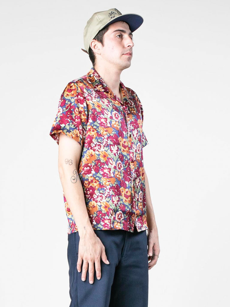 Autumn Vintage Silk Short Sleeve Shirt 313570149941325