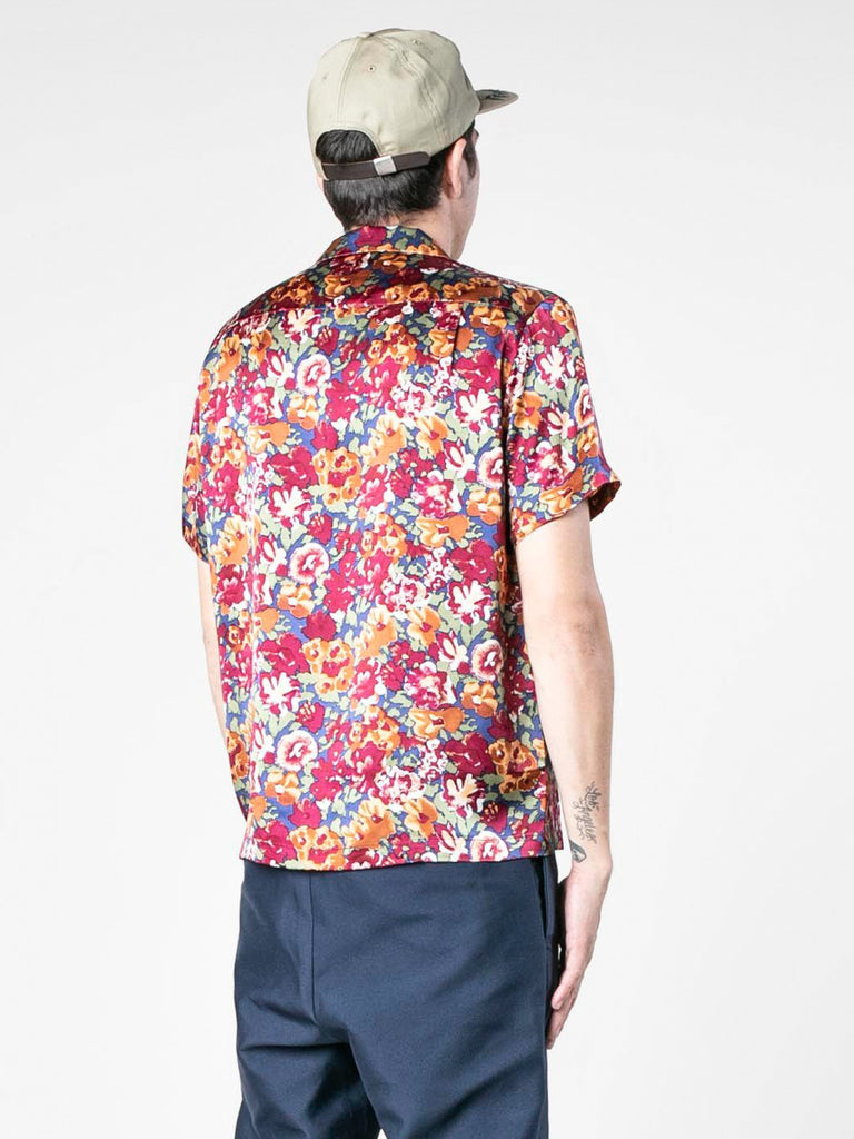 Autumn Vintage Silk Short Sleeve Shirt 613570149974093
