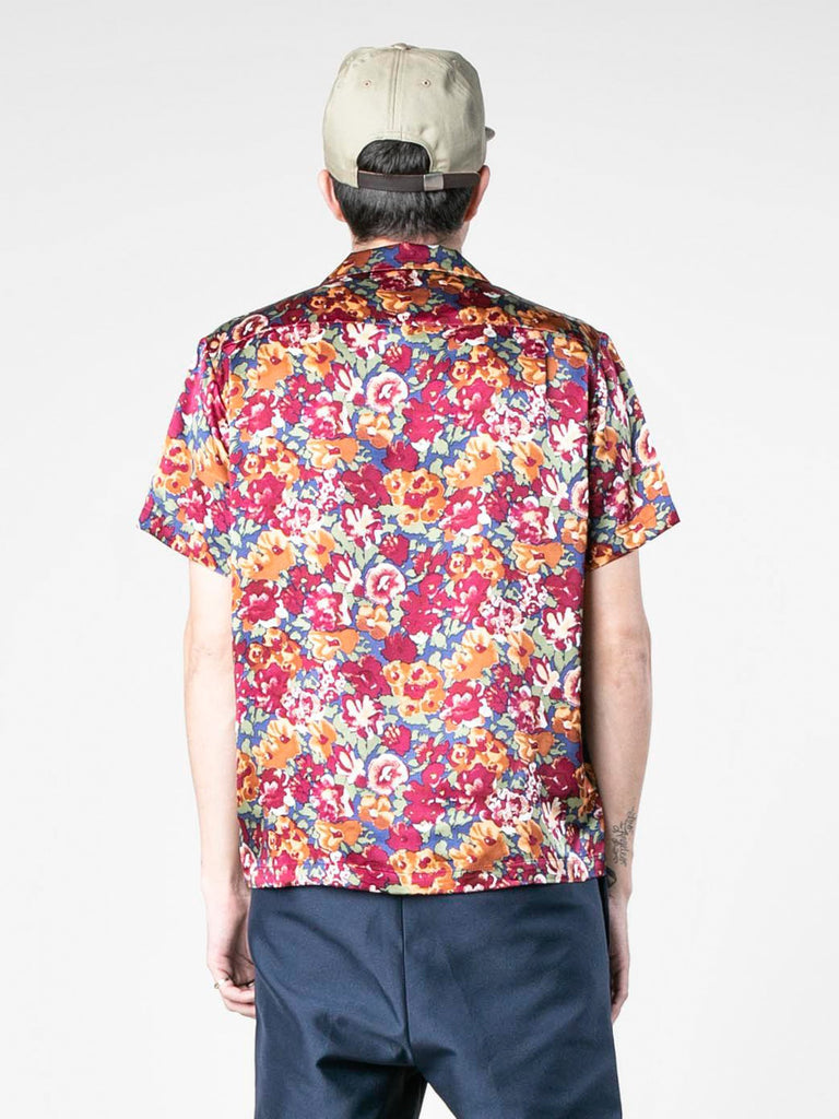 Autumn Vintage Silk Short Sleeve Shirt 513570150006861