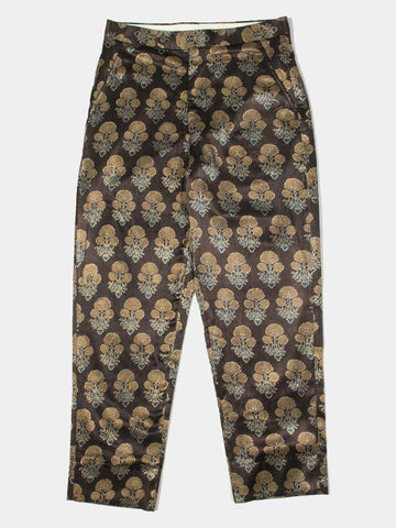 Block-Print Floral Trousers