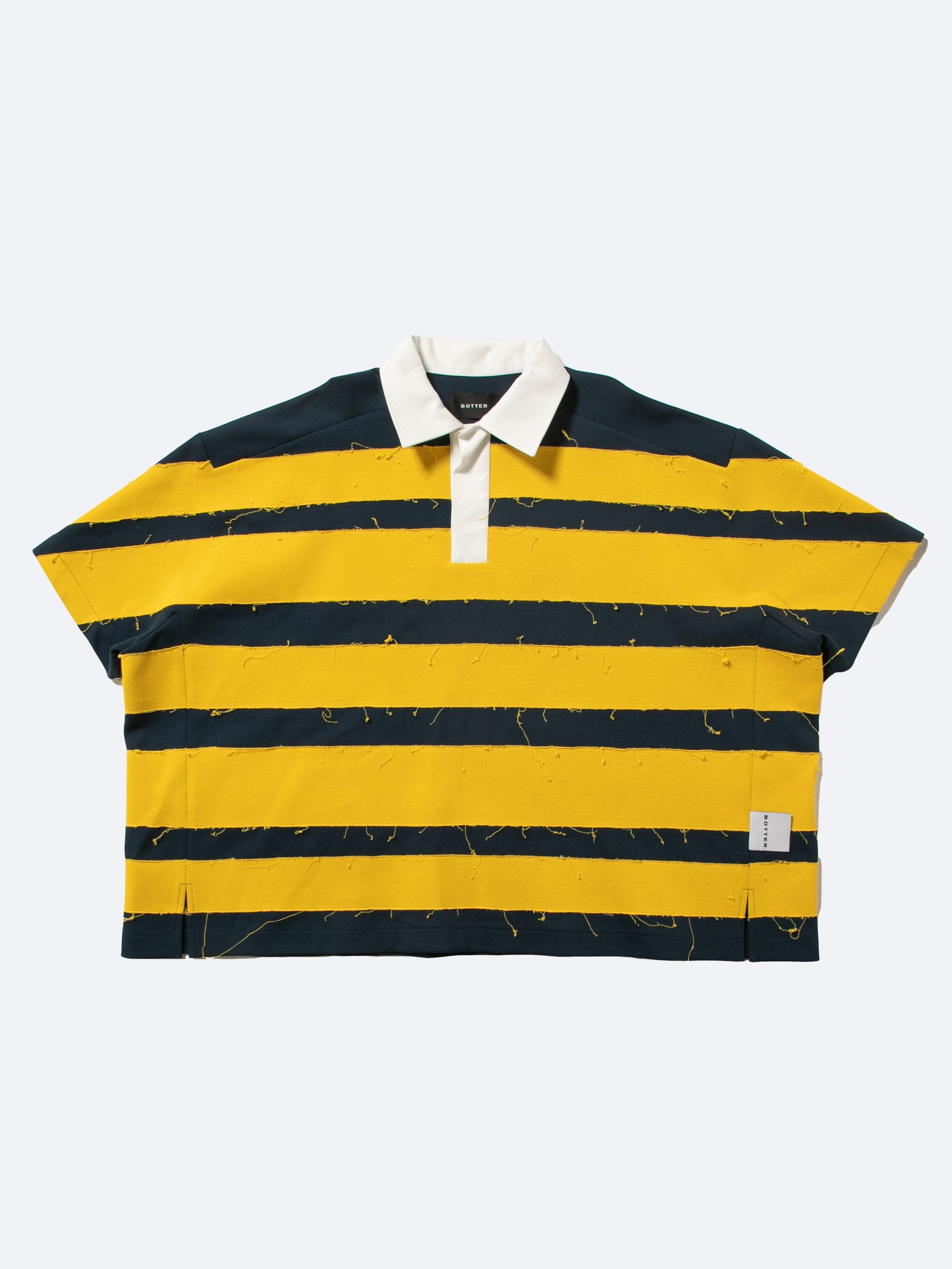 Yellow Navy Crash Polo Short Sleeves 1