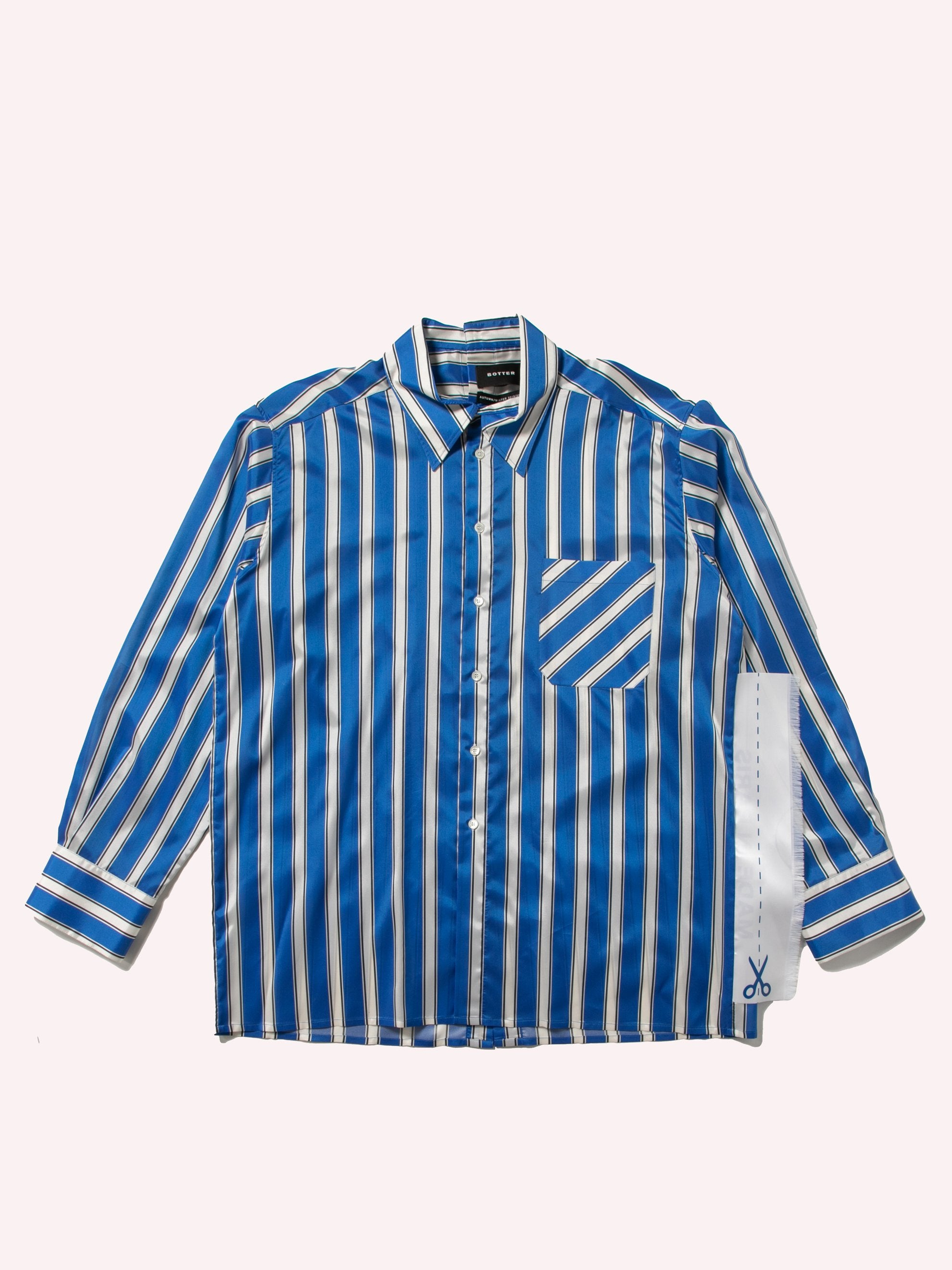 White Cobalt Side Label Lining Shirt 1