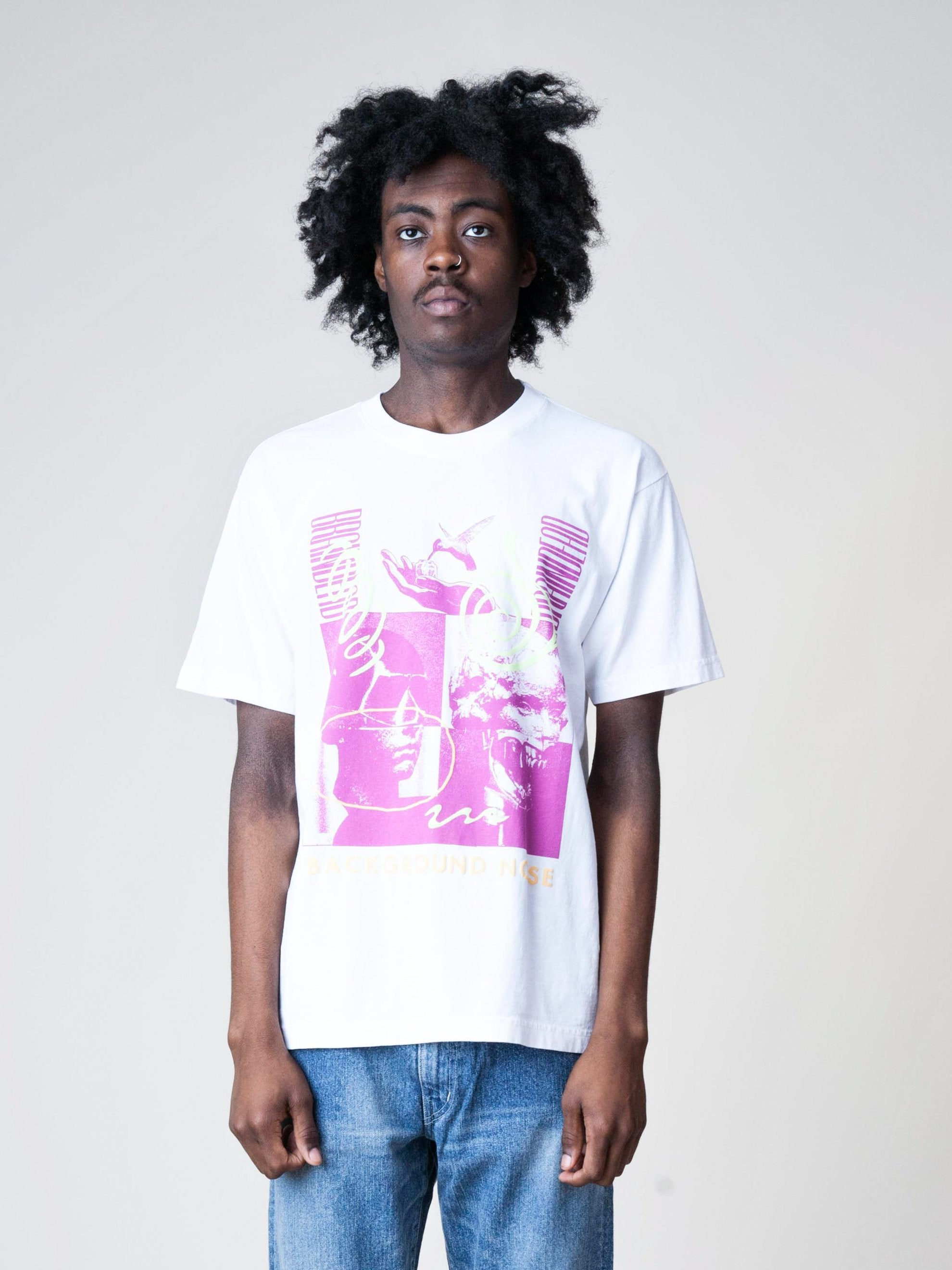 White Background Noise S/S T-Shirt 2