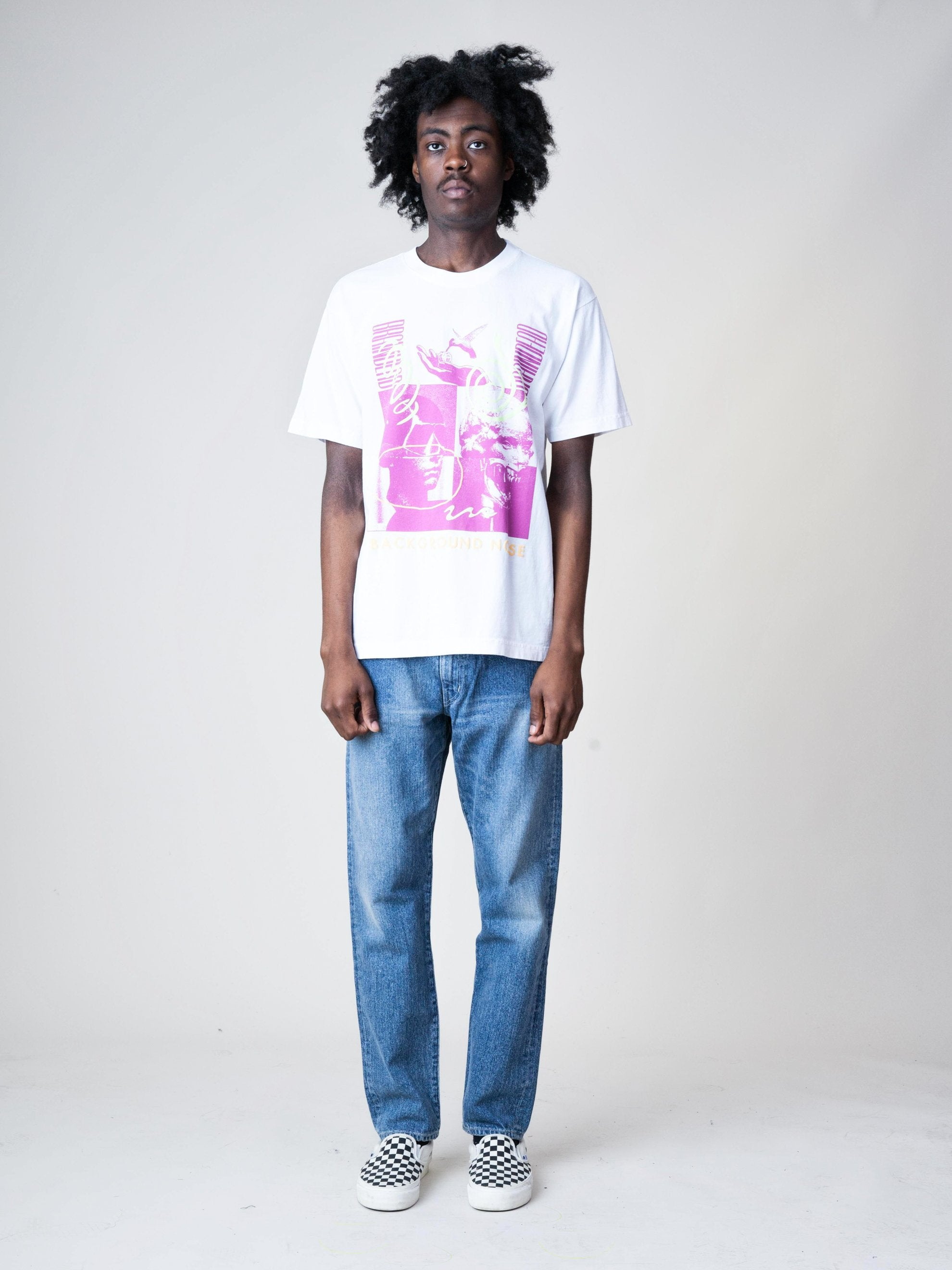 White Background Noise S/S T-Shirt 3