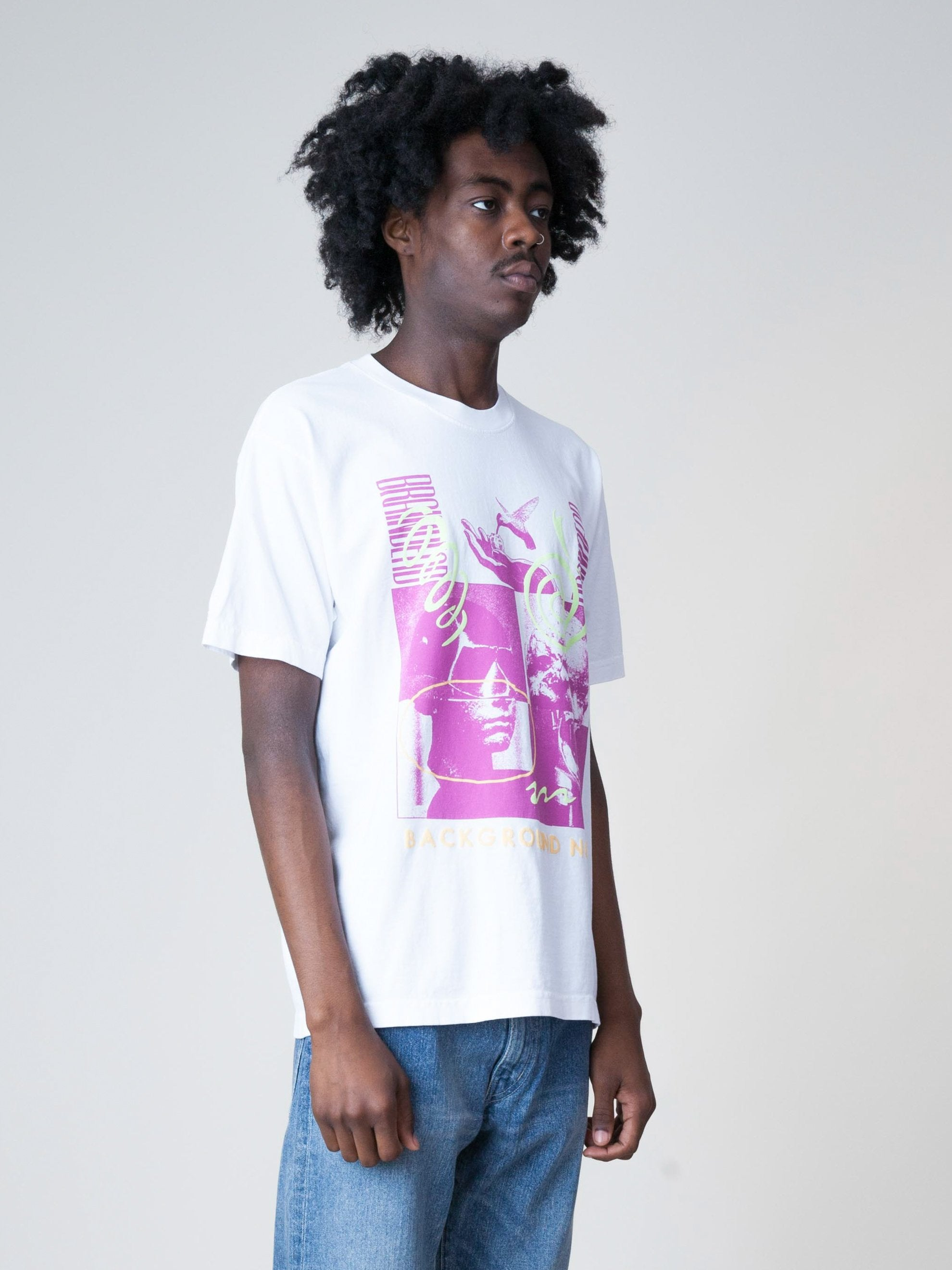 White Background Noise S/S T-Shirt 4
