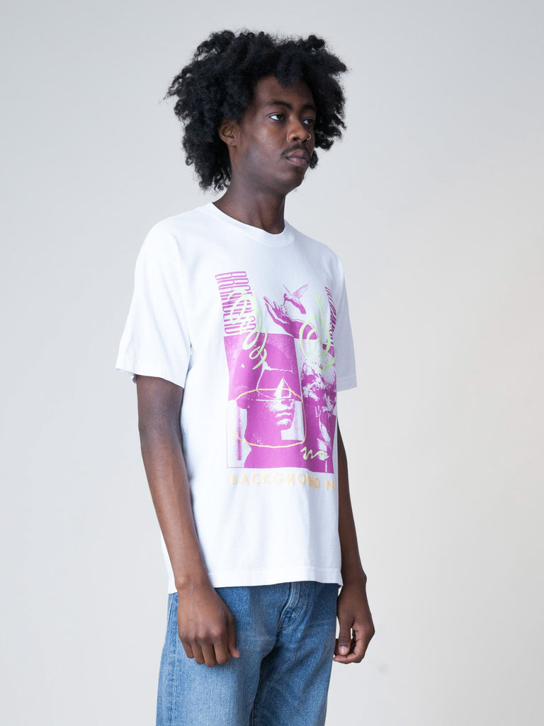 White Background Noise S/S T-Shirt 43611288567885