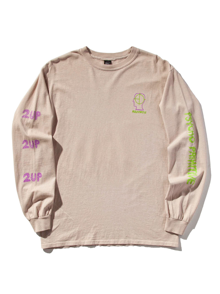"Dusty Pink 2UP ""Psycho Primitive"" Long Sleeve T-Shirt 421419208777"