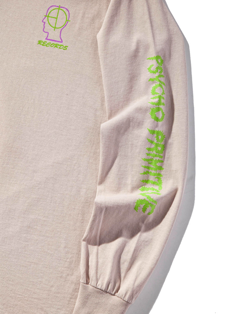 "Dusty Pink 2UP ""Psycho Primitive"" Long Sleeve T-Shirt 821419220681"