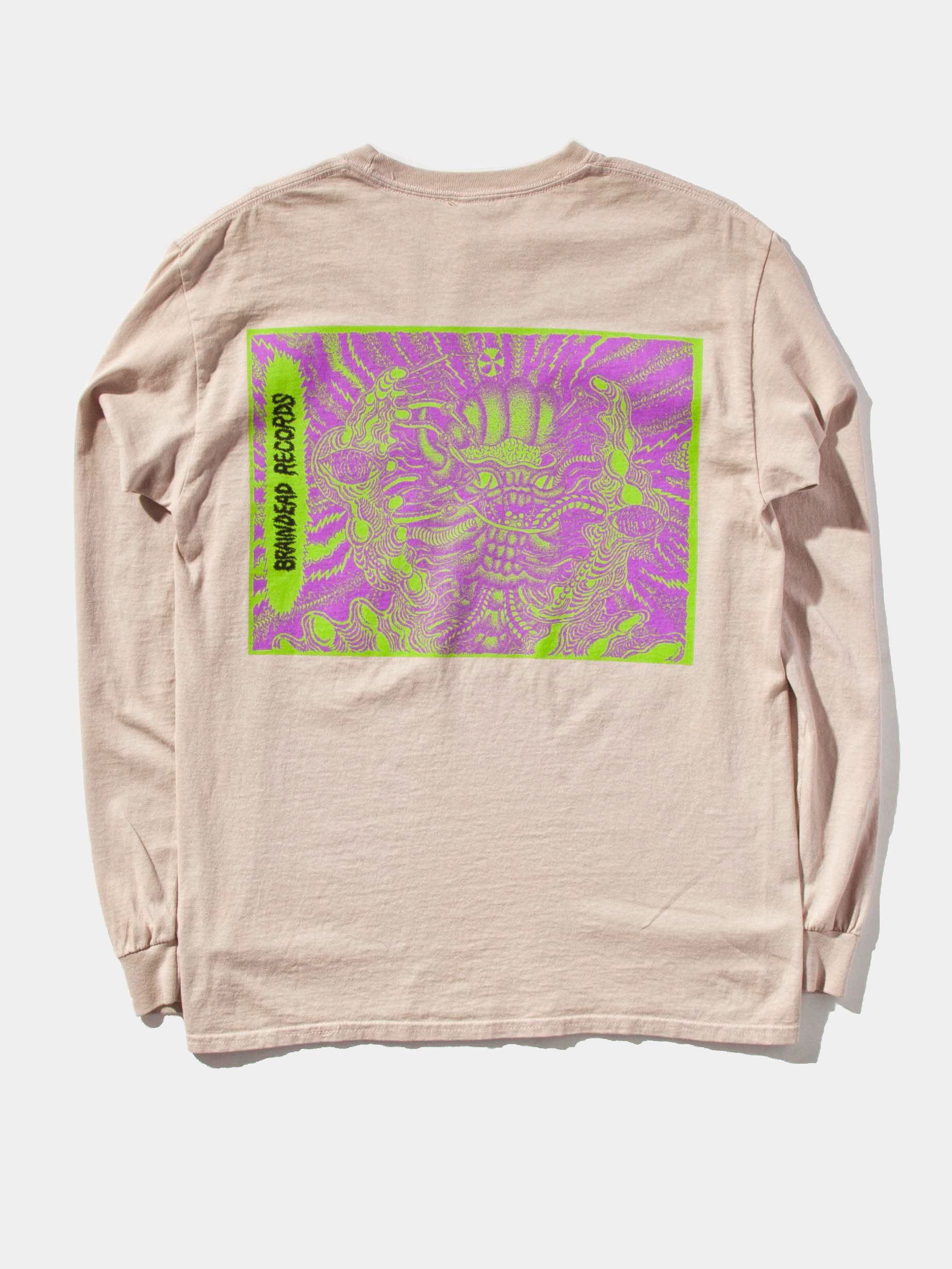 "Dusty Pink 2UP ""Psycho Primitive"" Long Sleeve T-Shirt 1"
