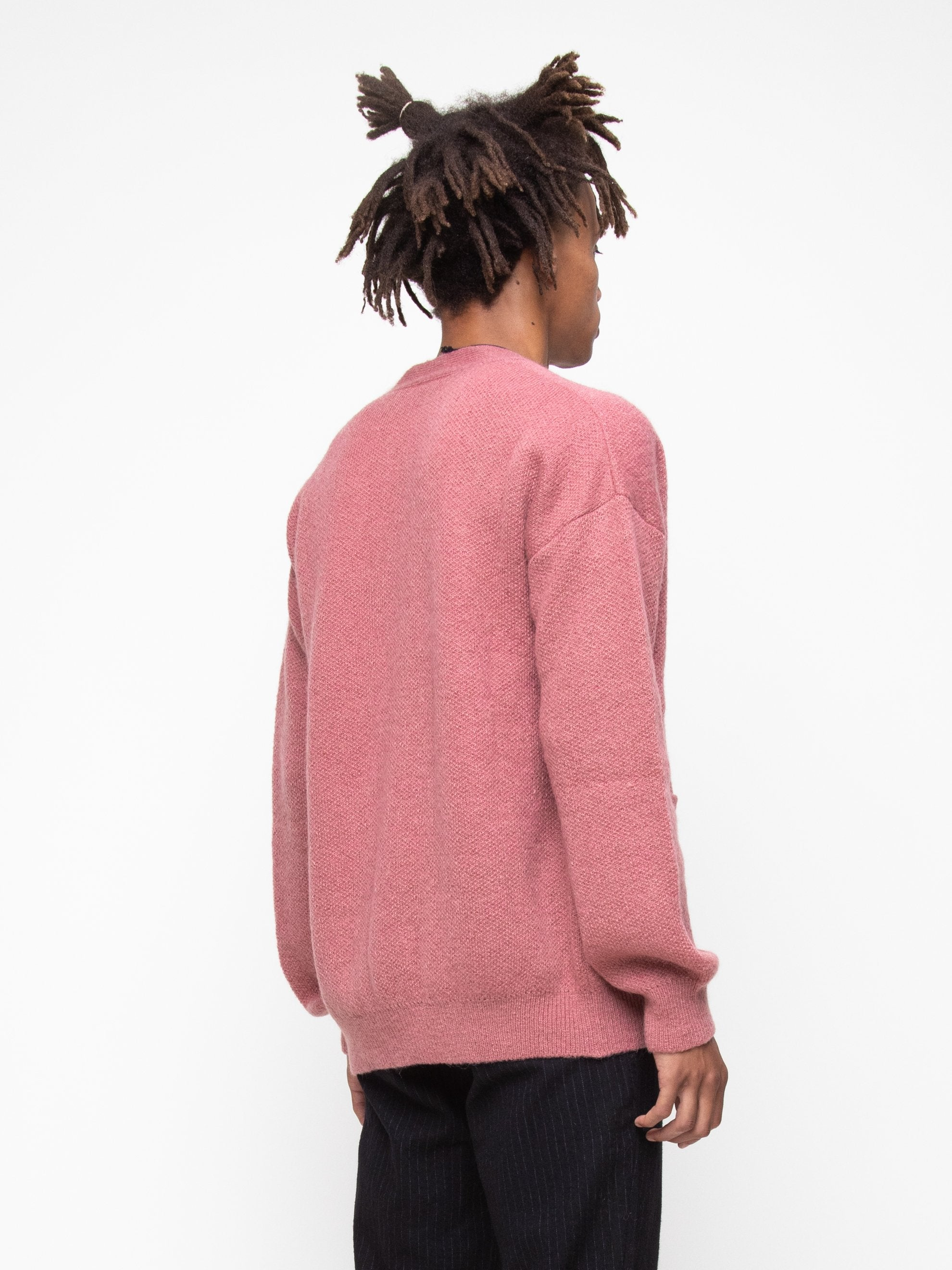 Salmon Patch Pocket Mohair Cardigan 5