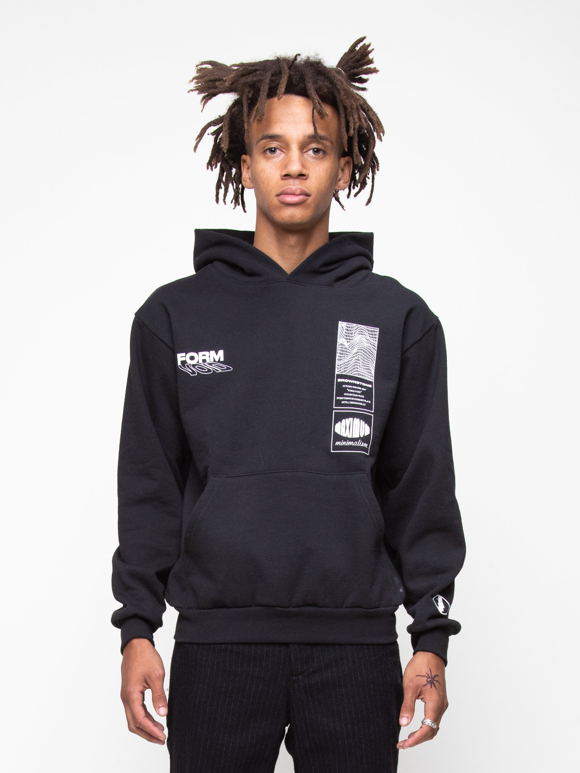 Black Heavy Fleece Collection Hoodie 3
