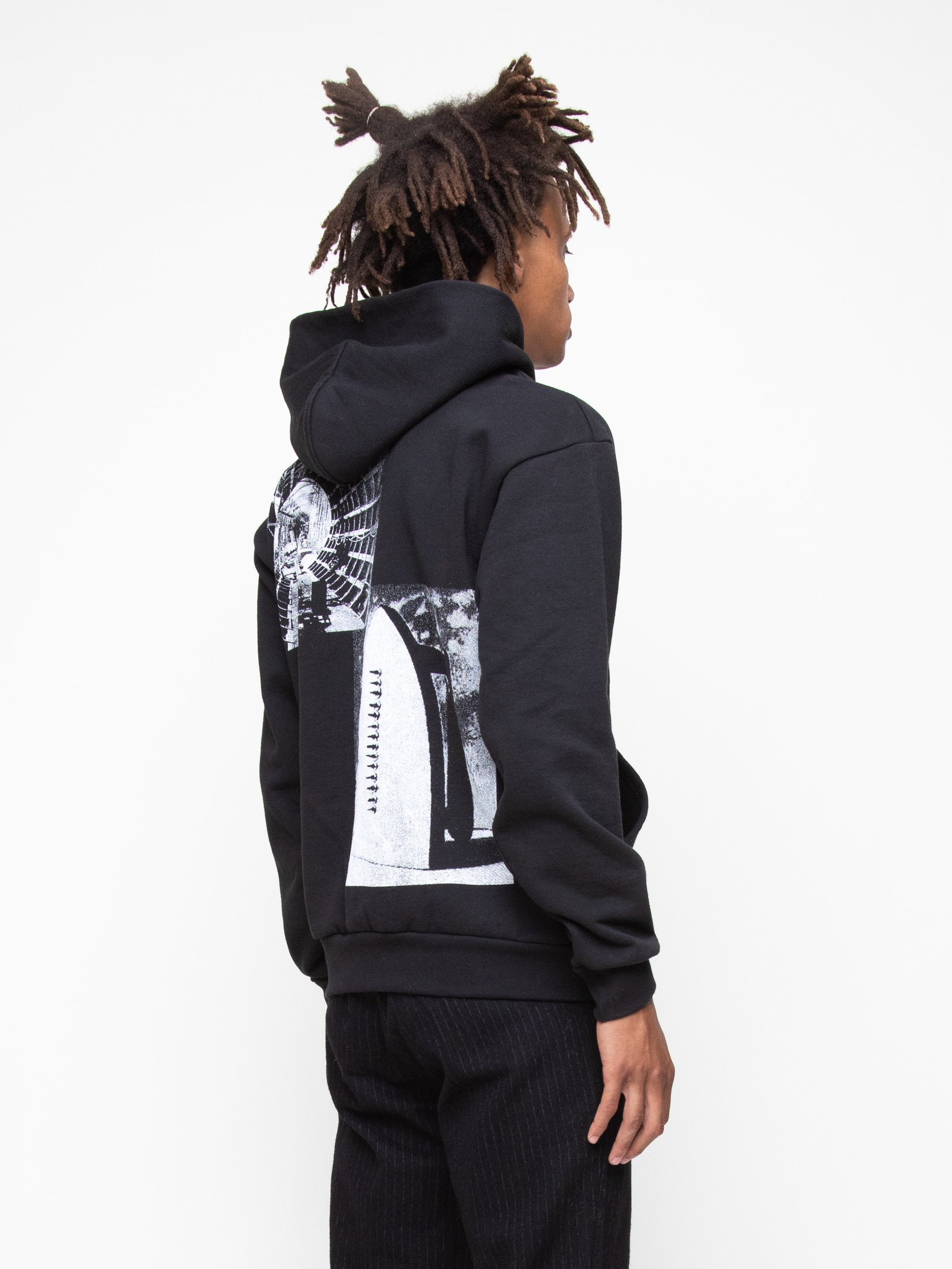 Black Heavy Fleece Collection Hoodie 5