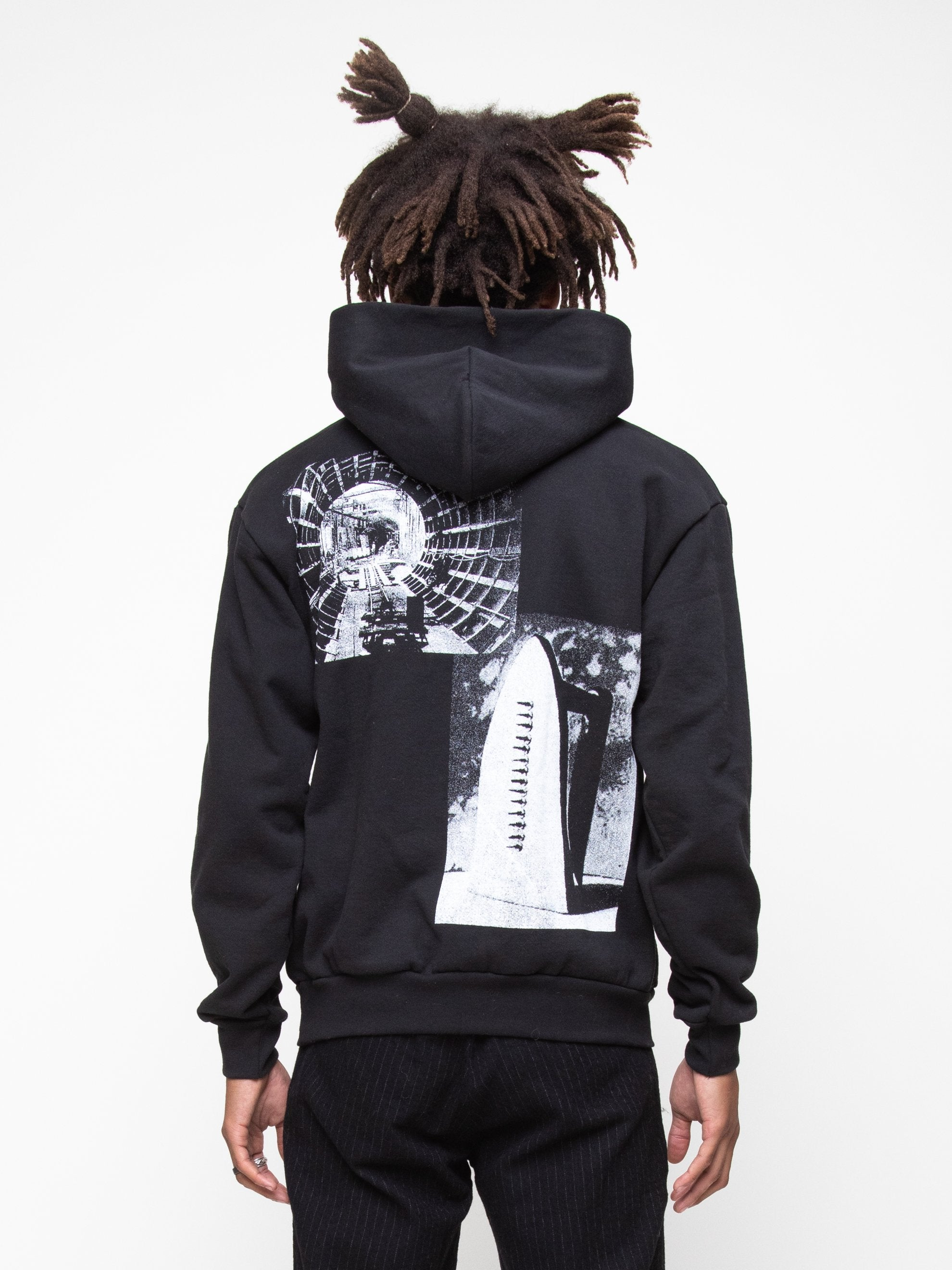 Black Heavy Fleece Collection Hoodie 6