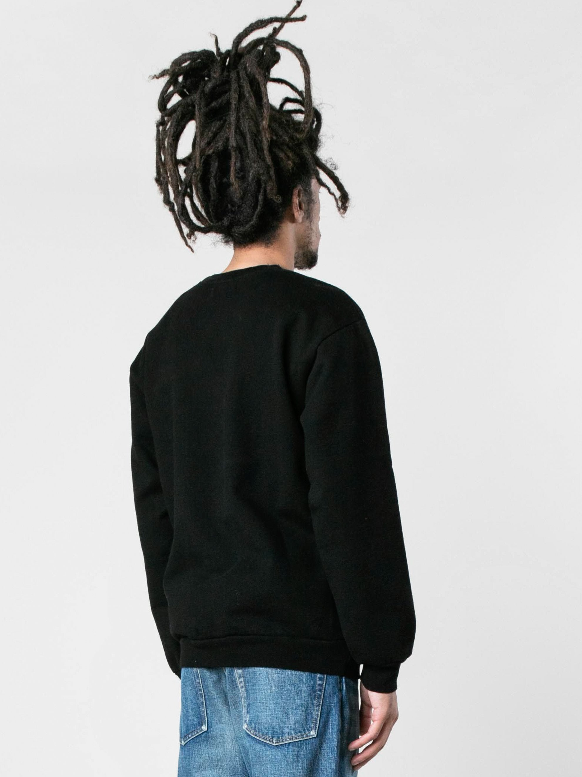 Black Cream Color Block Crewneck 5
