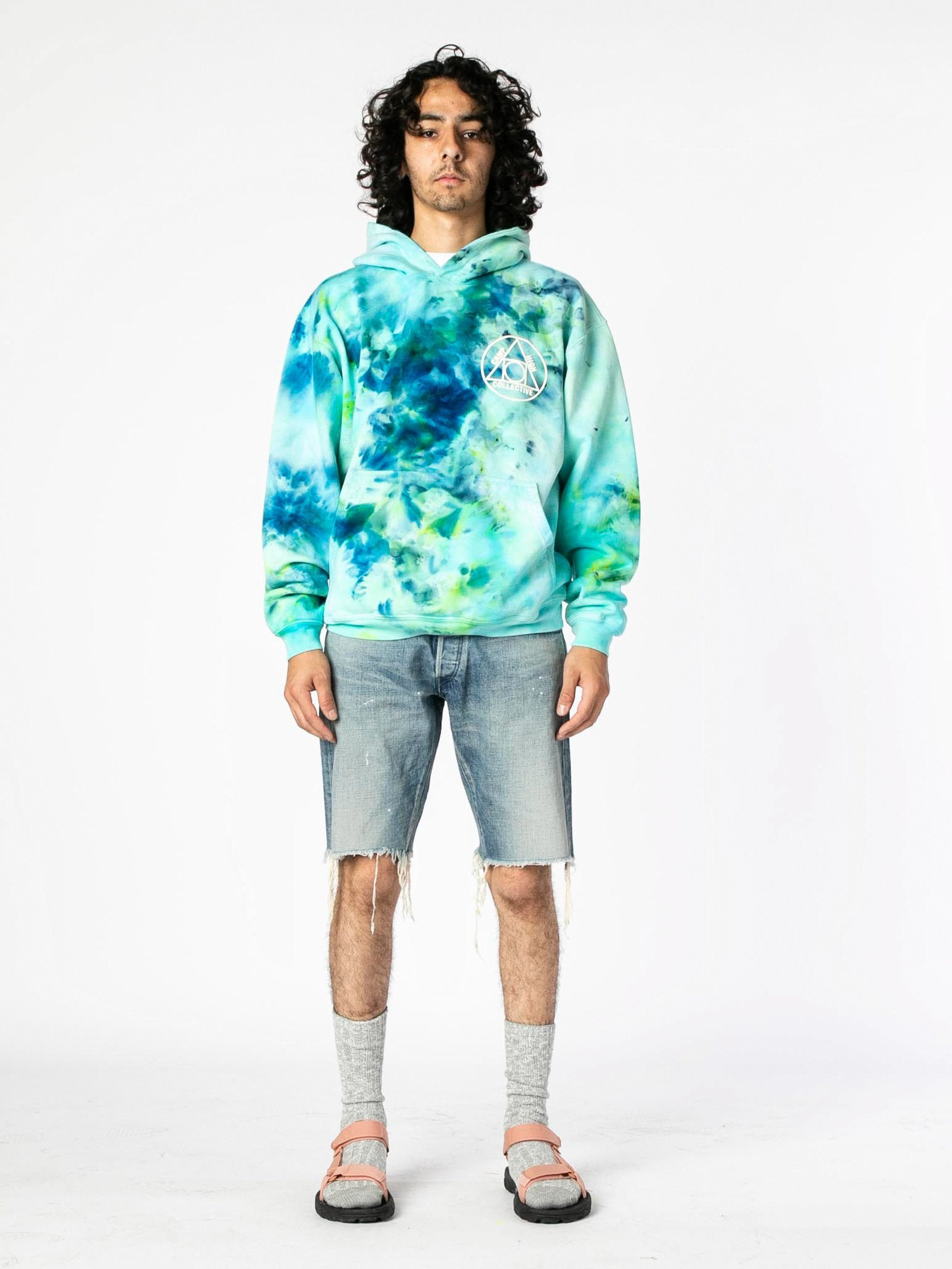 Tie Dye Camp High Collective Hoodie 3