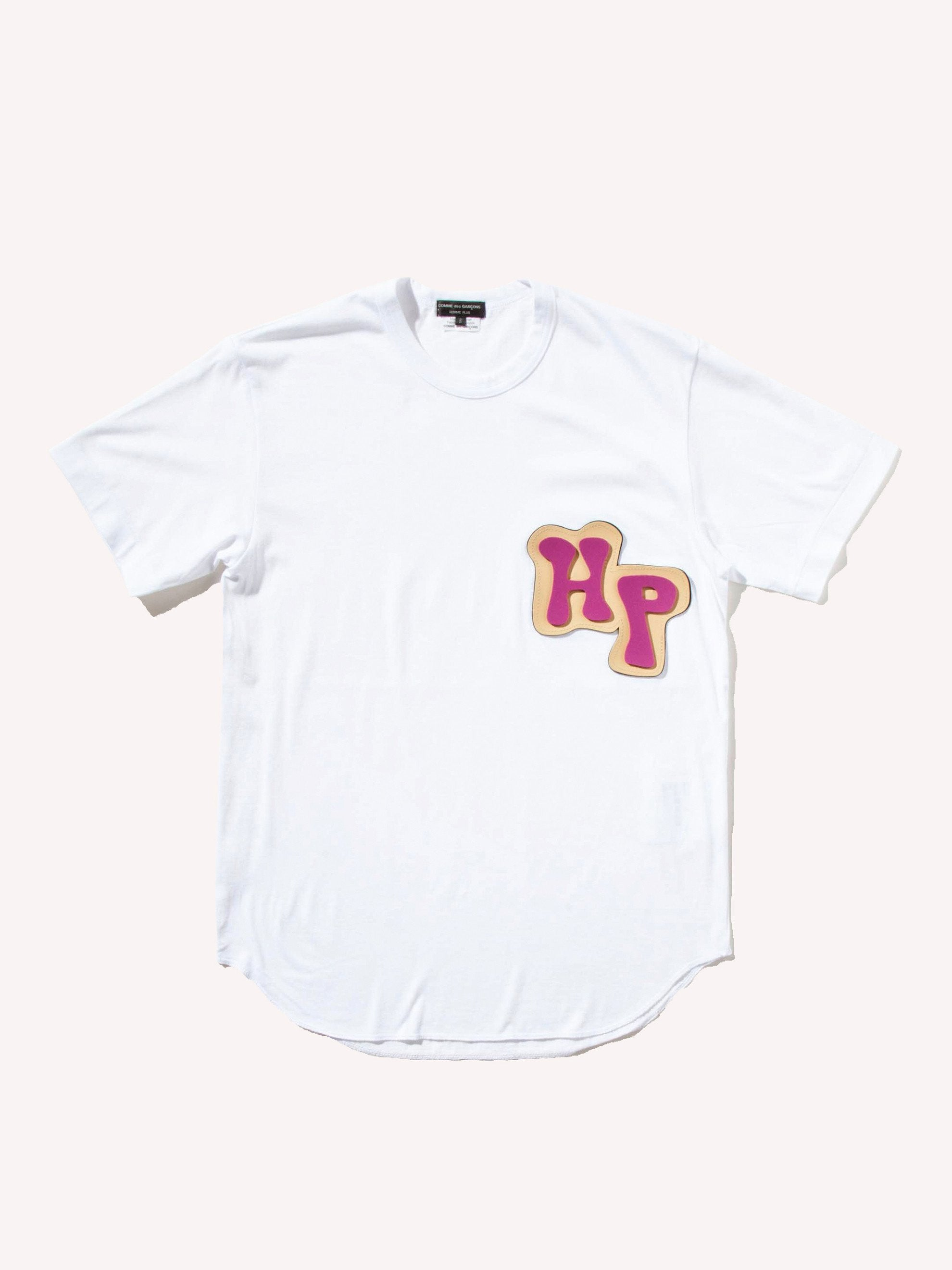 White HP Rubber Applique T-Shirt 1