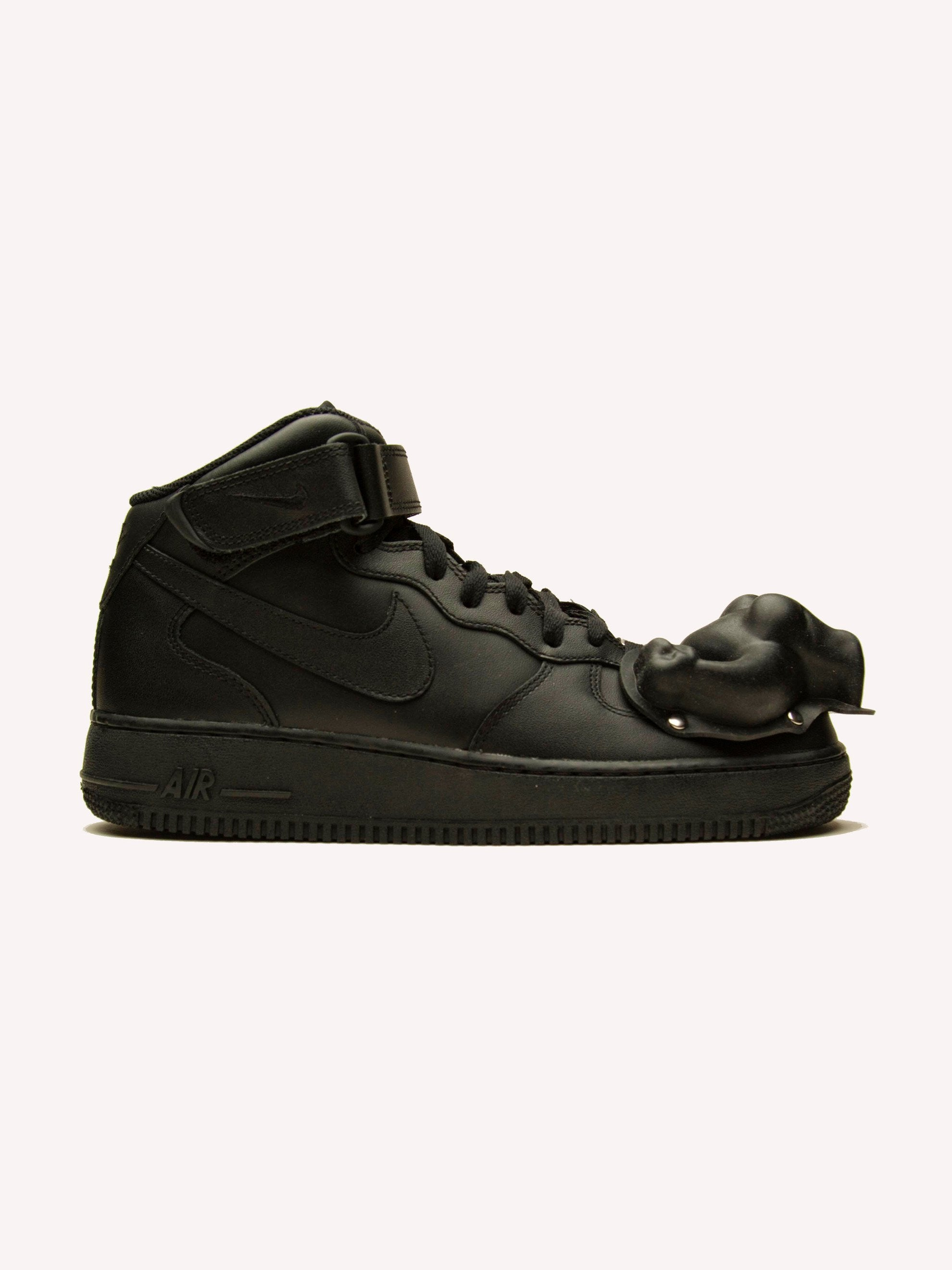 Black Nike x CdG Air Force 1 (Mid) 1