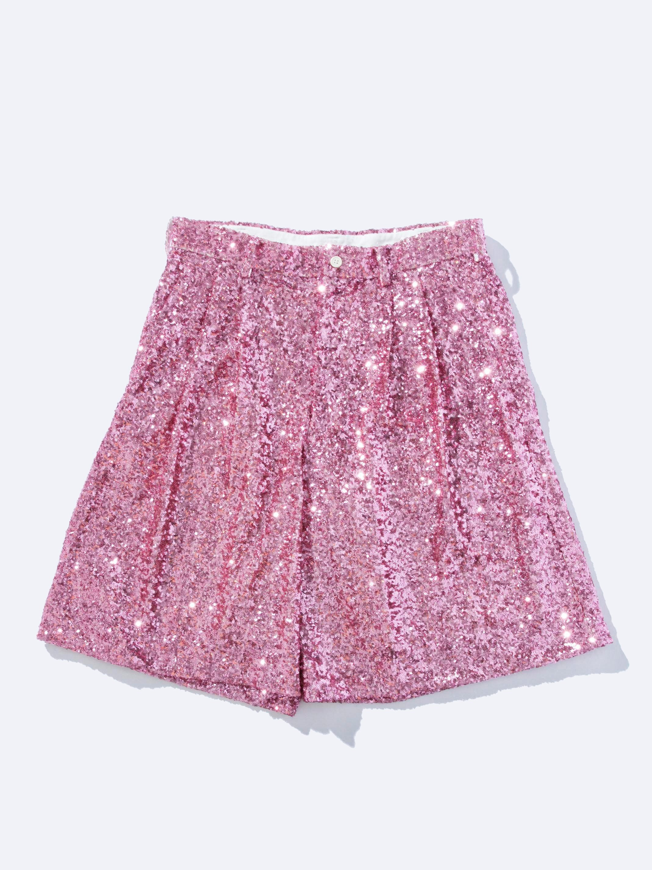 Pink Sequin Shorts 1