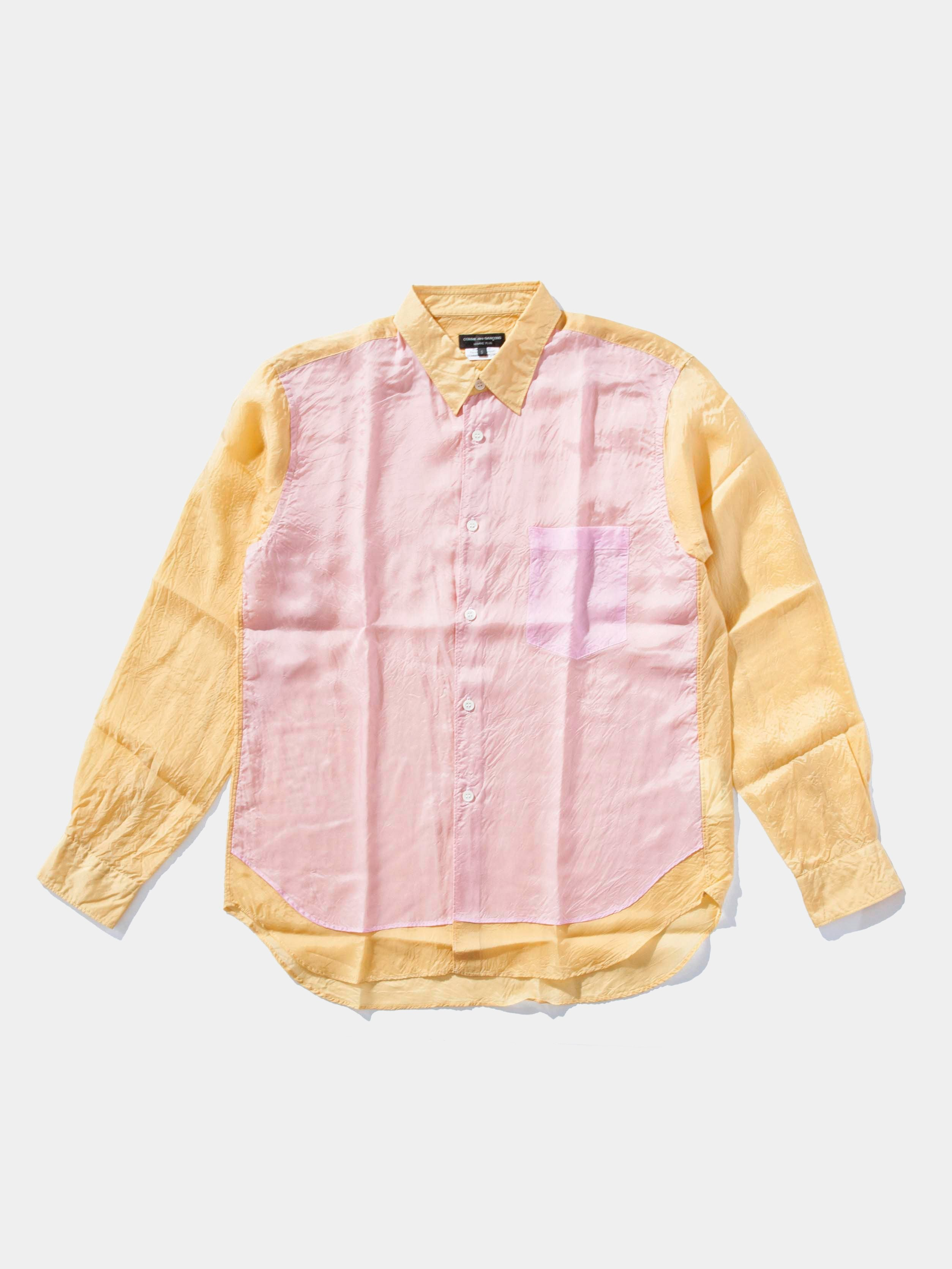 Pink/Yellow Two-Tone Button Up 1
