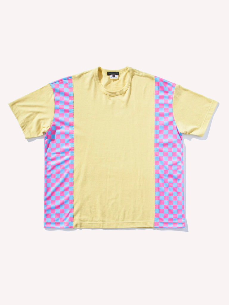 Side Paneled Checkered T-Shirt