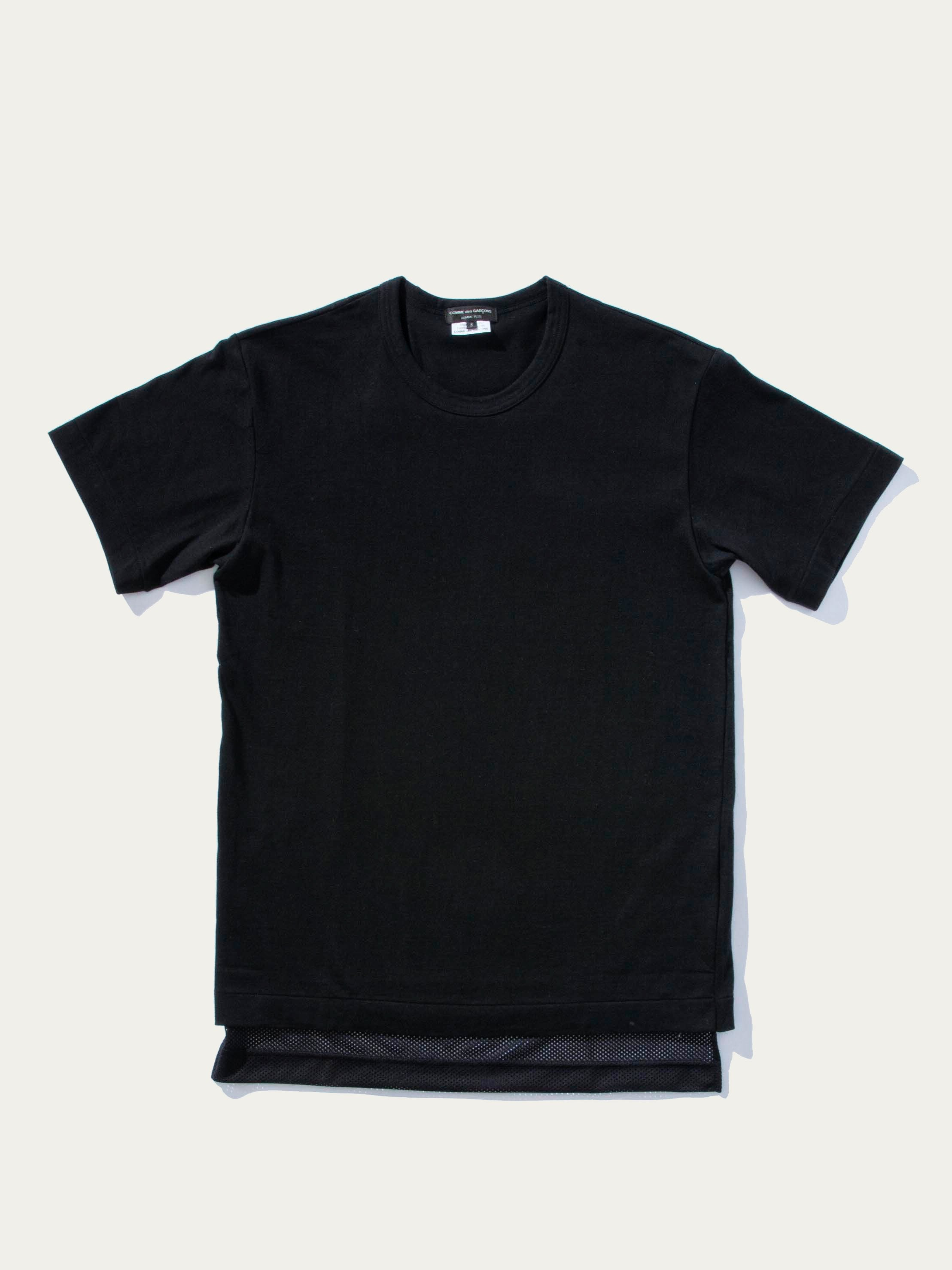 Black Mesh Short Sleeve T-Shirt 1