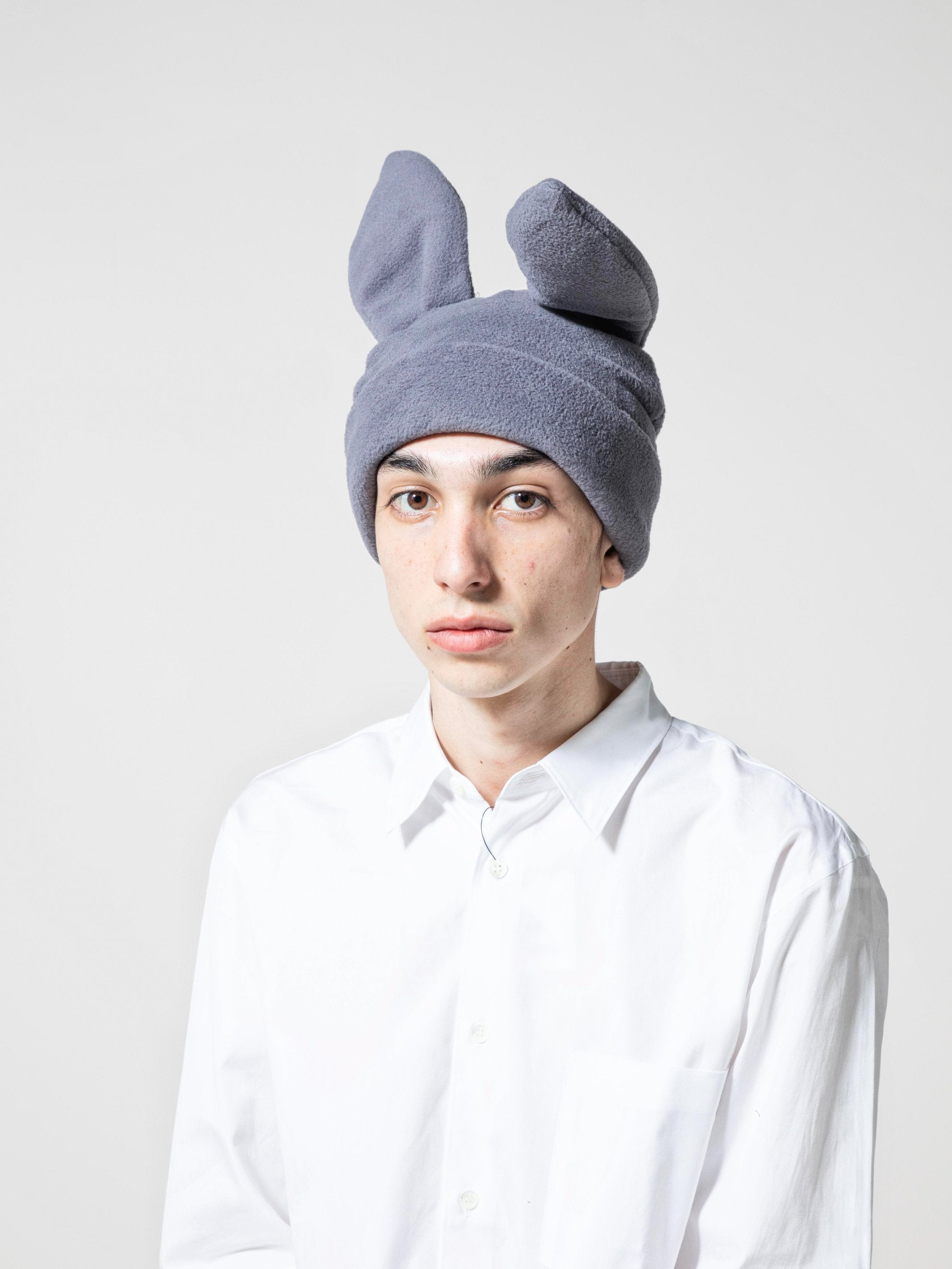 Red Bunny Ears Woven Beanie 4
