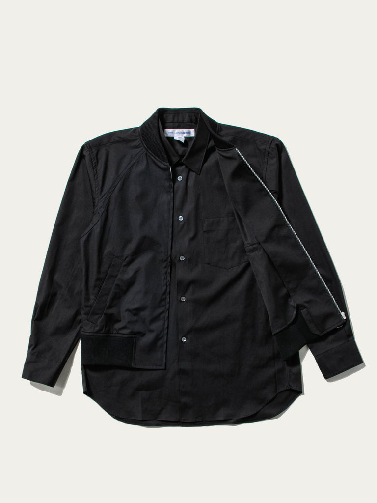 Layered Hybrid Blouson Shirt