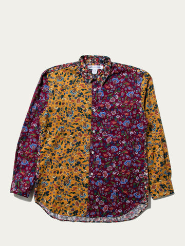 Pieced Multi Color Floral Shirt