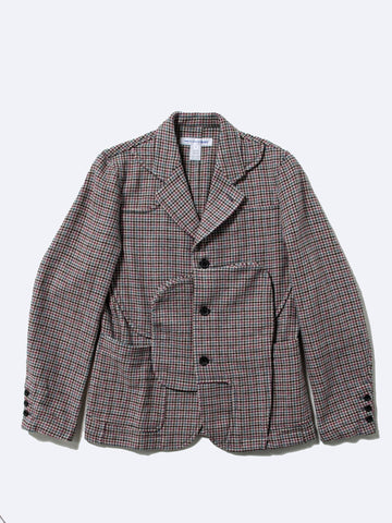 Reconstructed Houndstooth Wool Jacket